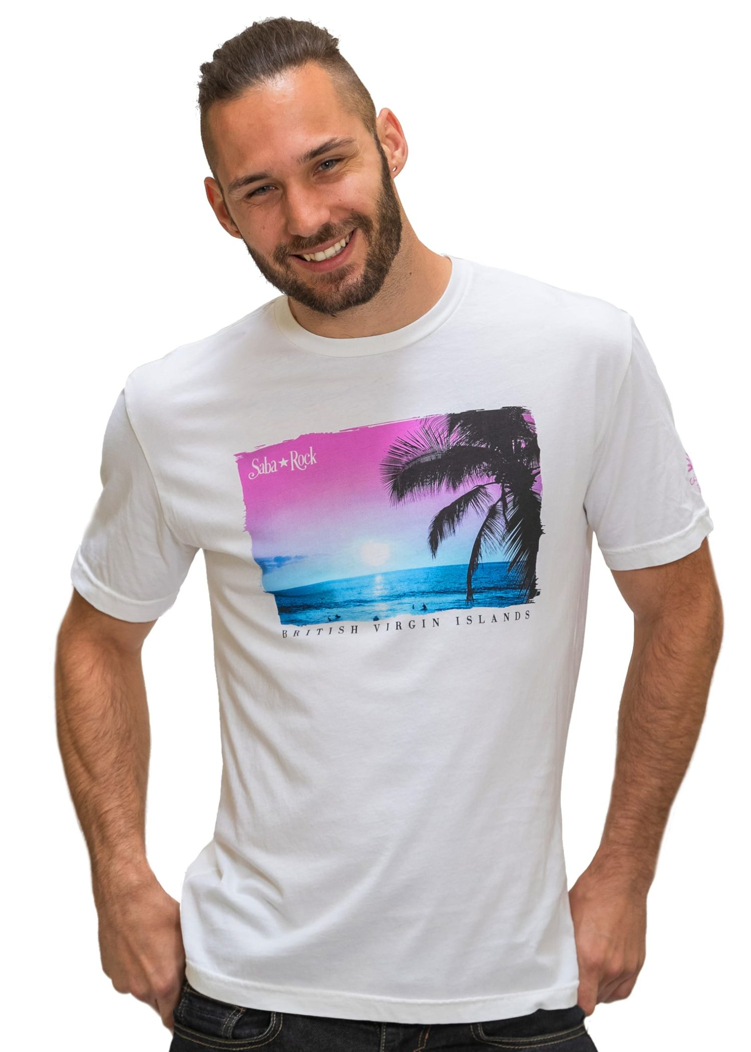 Men's Saba Rock Jersey Crew Scenic T-Shirt