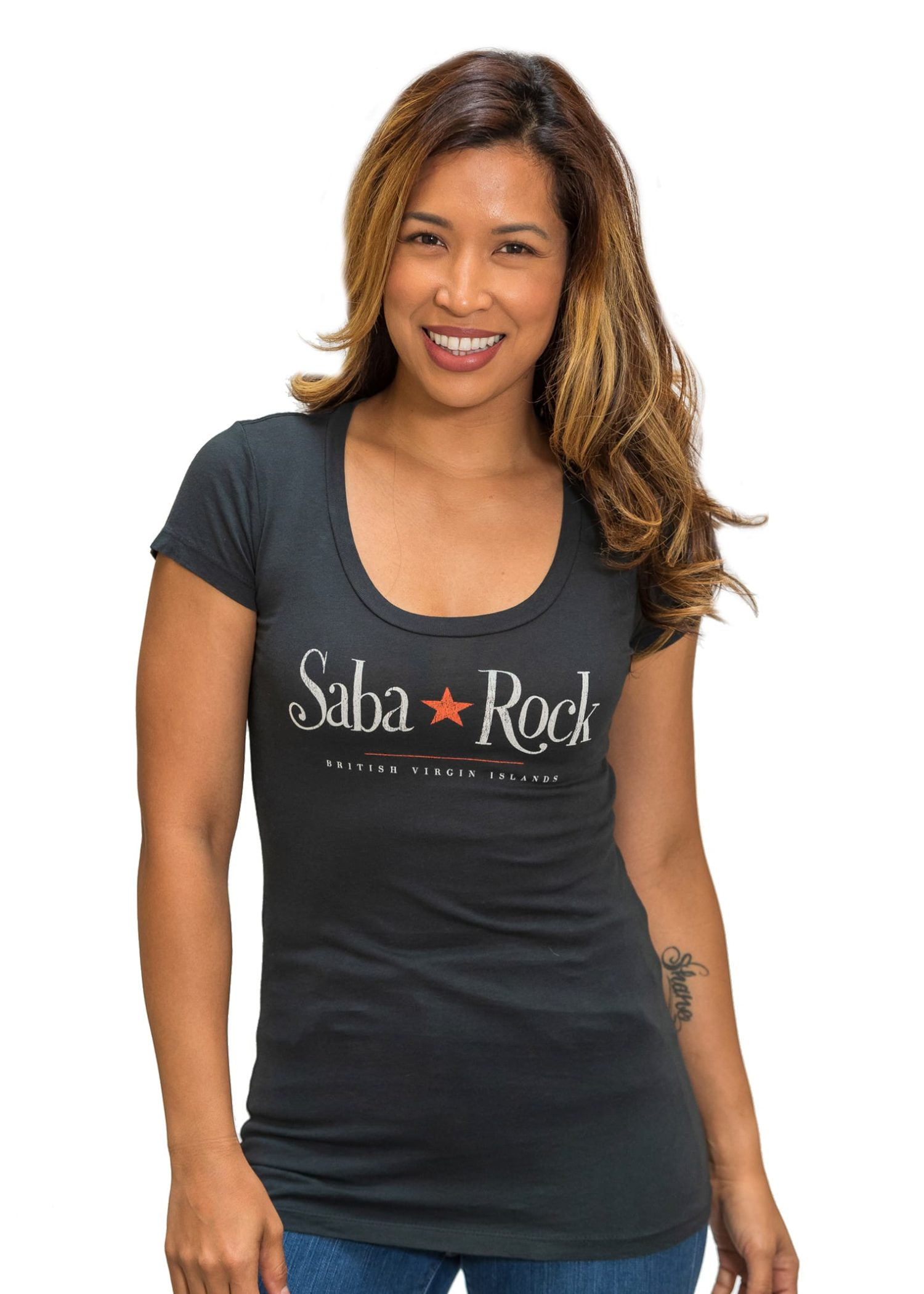 Women's Gray Saba Rock Jersey Scoop T-Shirt