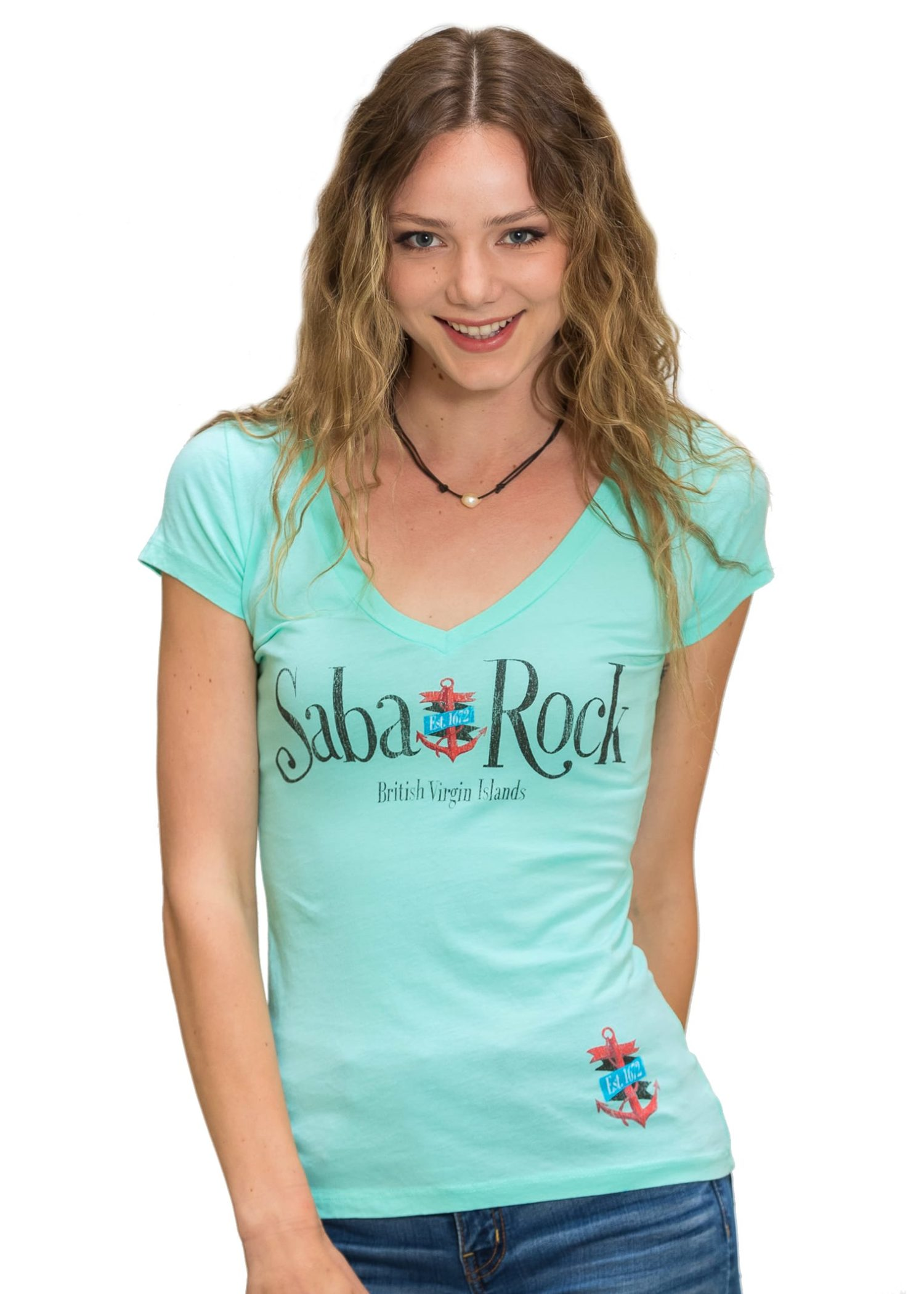 Women's Saba Rock Jersey Deep V-neck T-Shirt