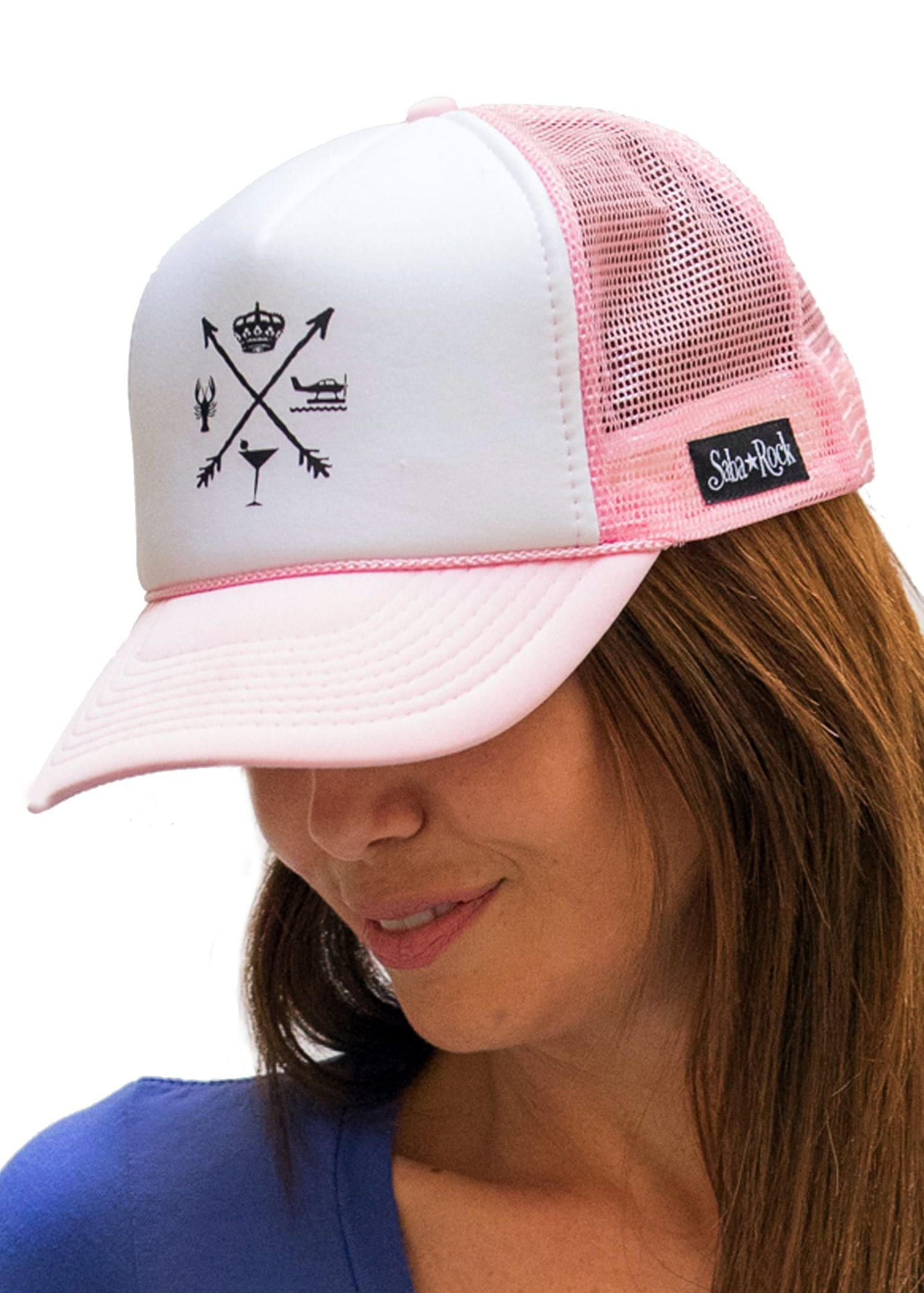Pink Saba Rock Foam Trucker Hat