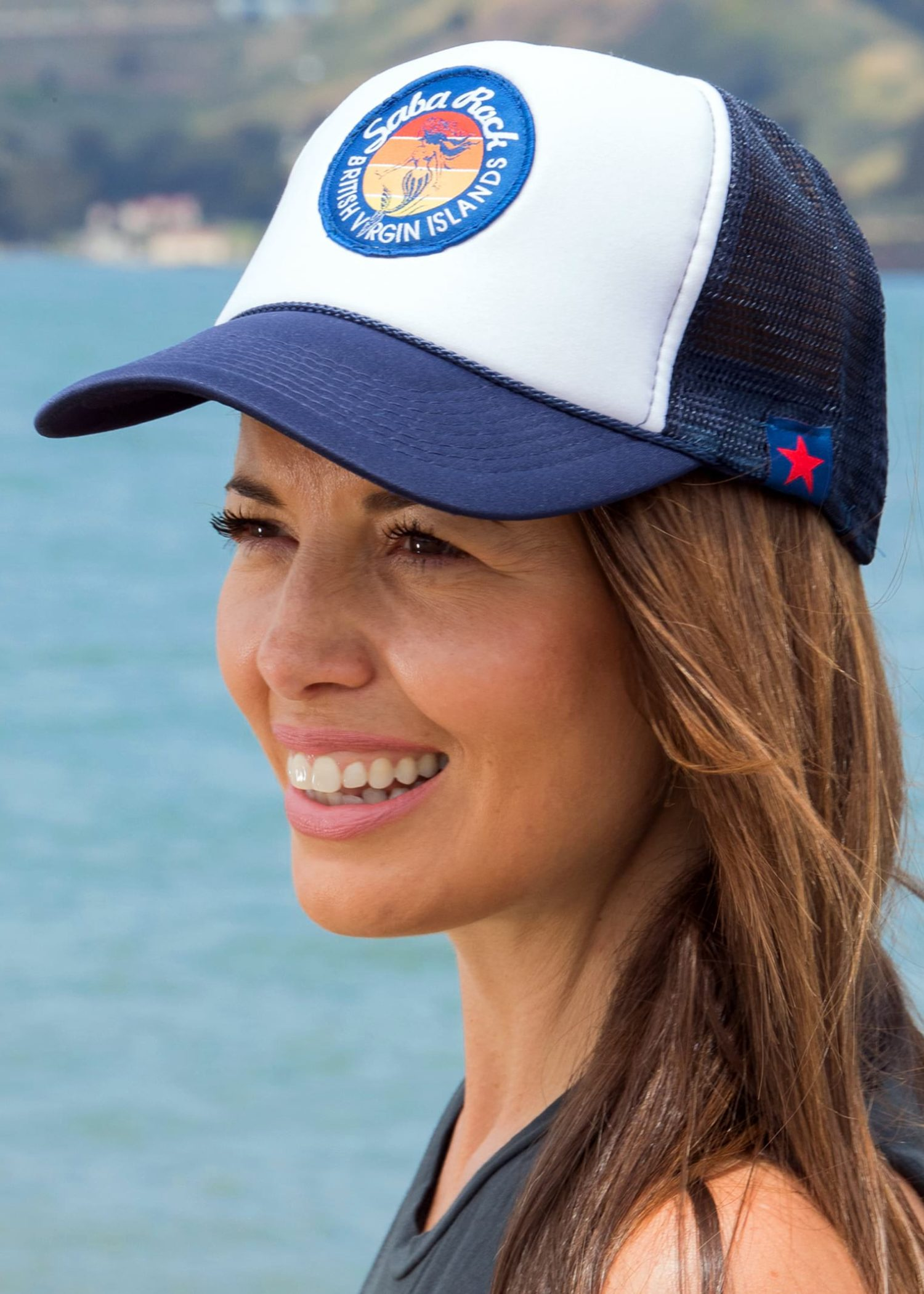 Blue Saba Rock Foam Trucker Hat