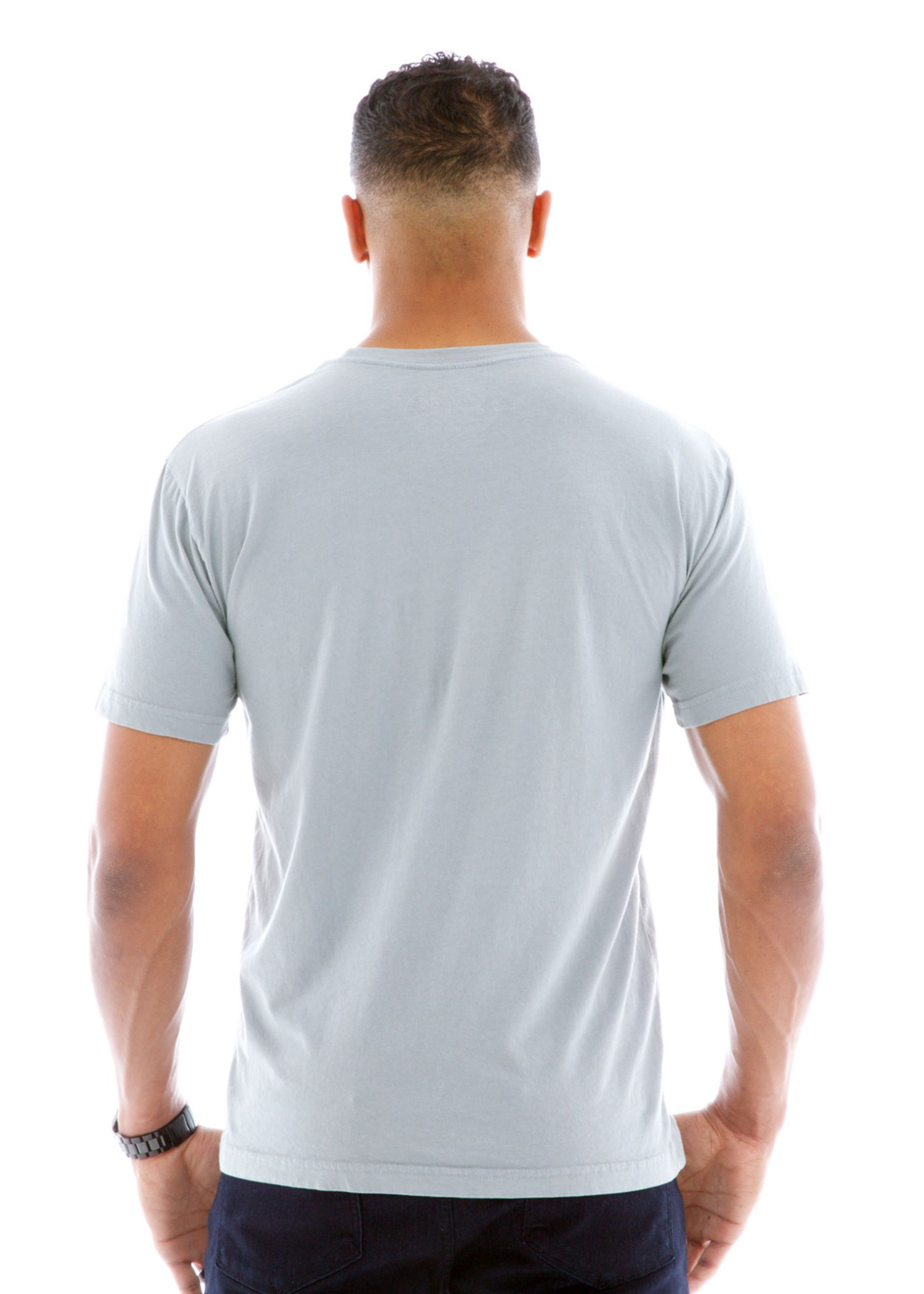 Fine Jersey Crew Short Sleeve T-Shirt Back View