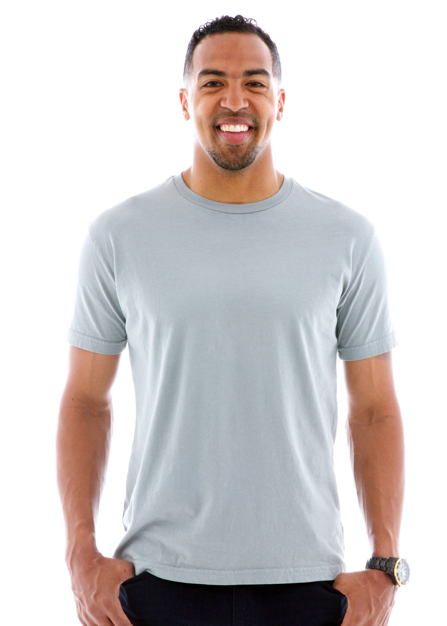 Men's Fine Jersey Crew Short Sleeve T-Shirt