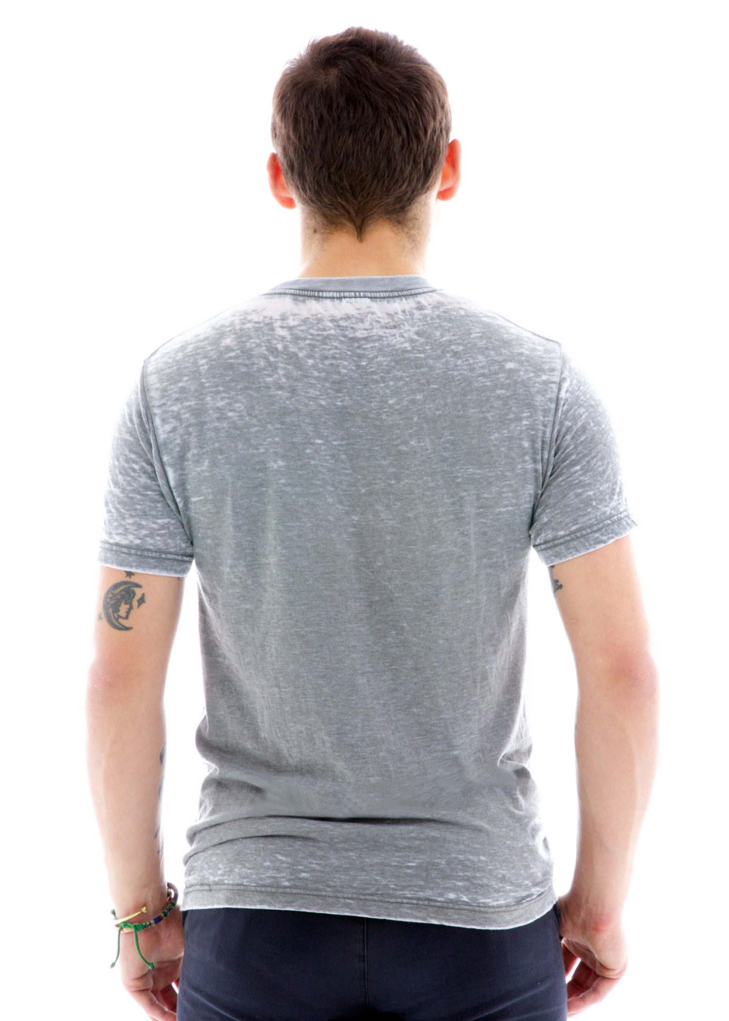 Burnout Crew Short Sleeve T-Shirt Back View