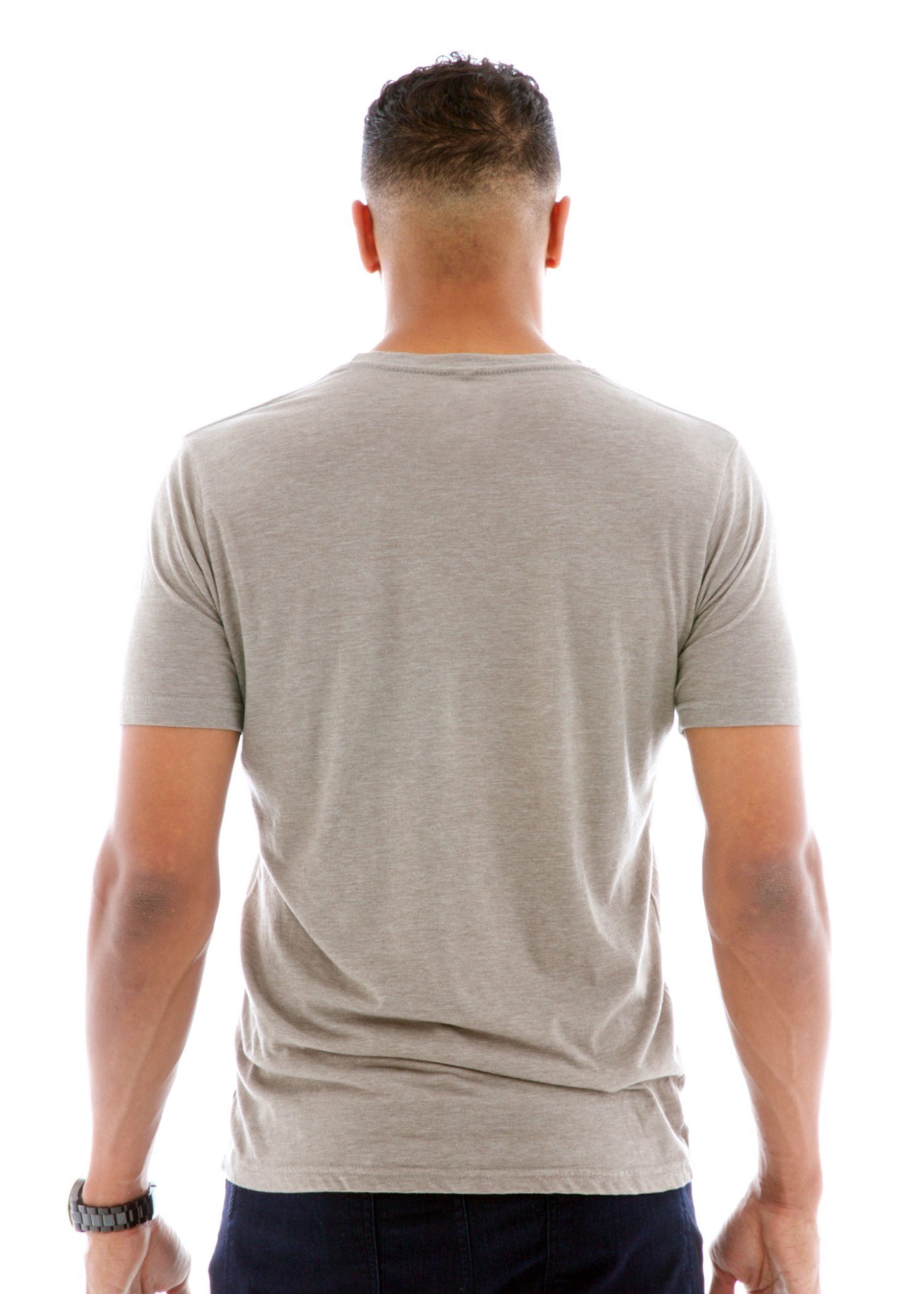 Men's Premium Heathered Crew Short Sleeve T-Shirt