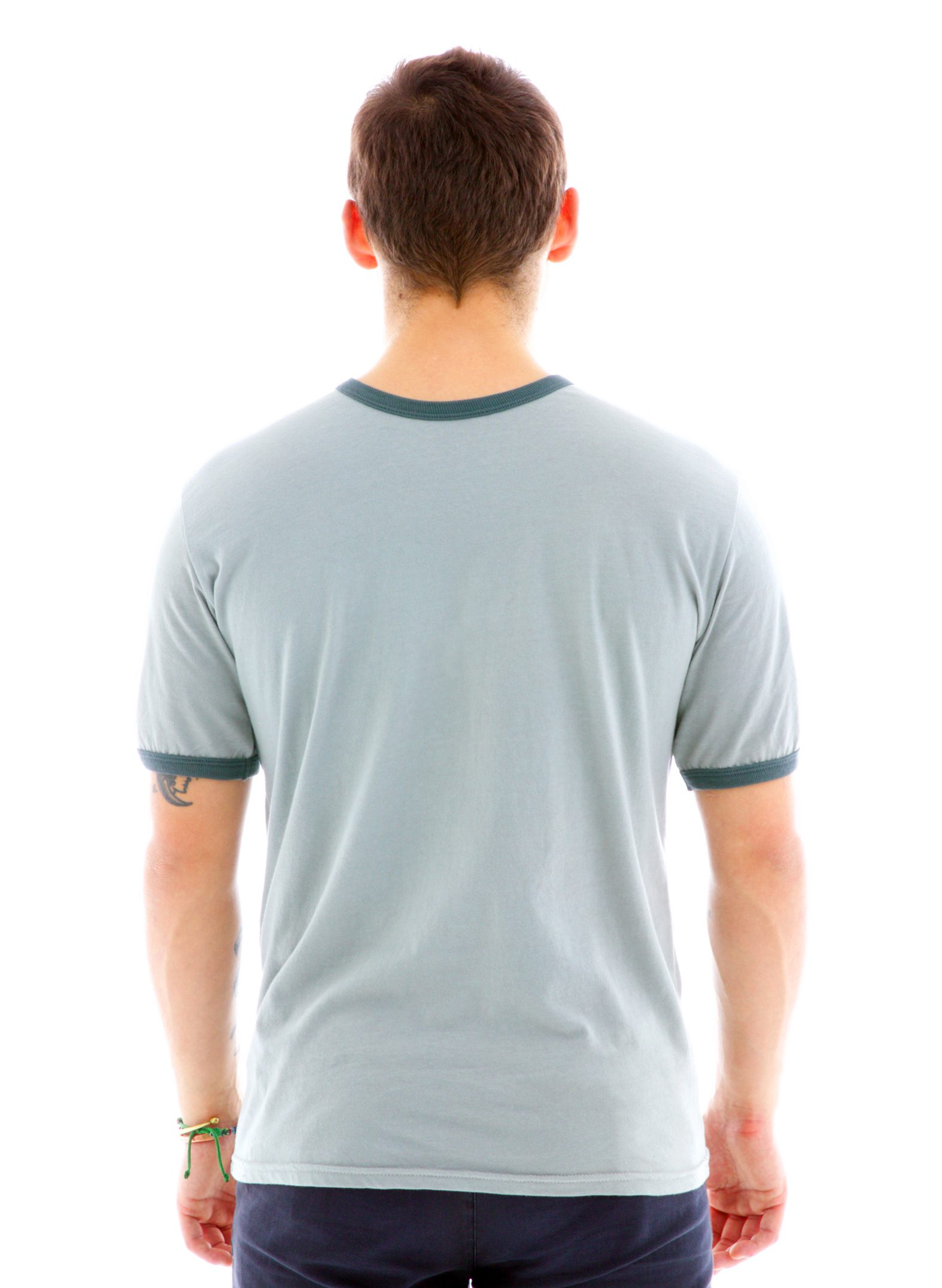 Ringer Crew Short Sleeve T-Shirt Back View