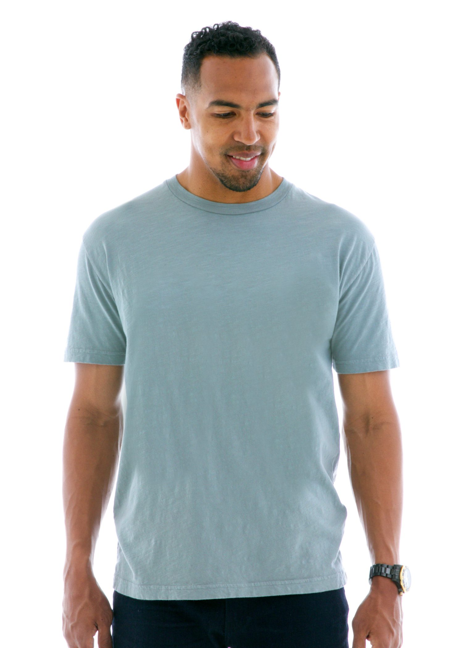 Slub Jersey Short Sleeve T-Shirt Front View