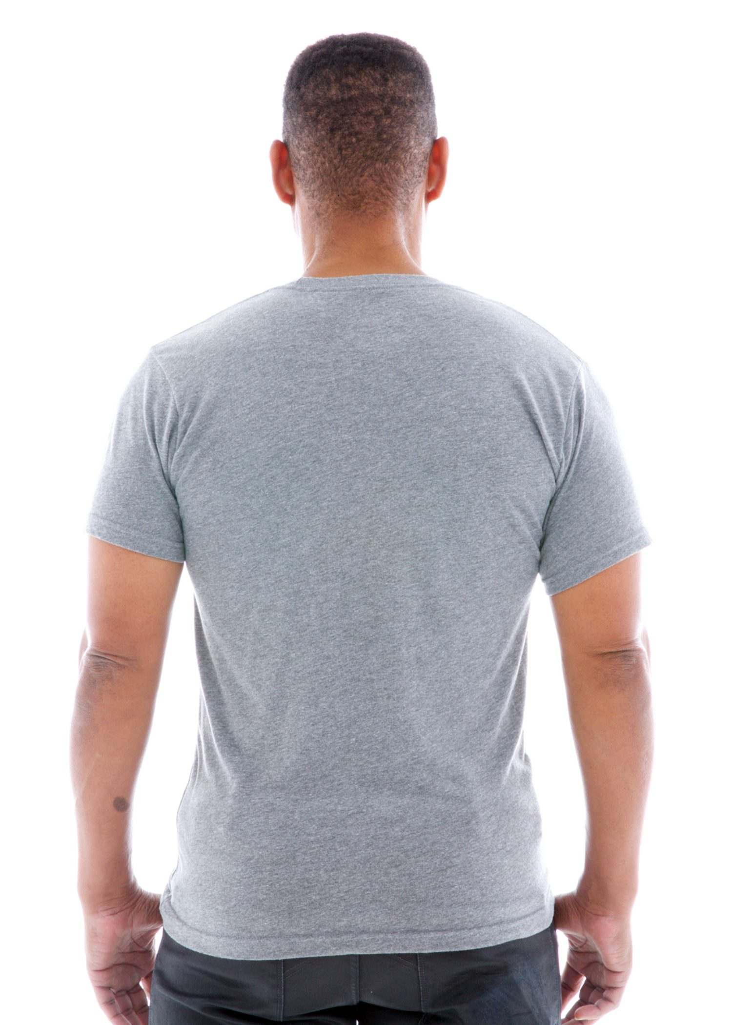 Triblend Jersey Crew Short Sleeve T-Shirt Back View