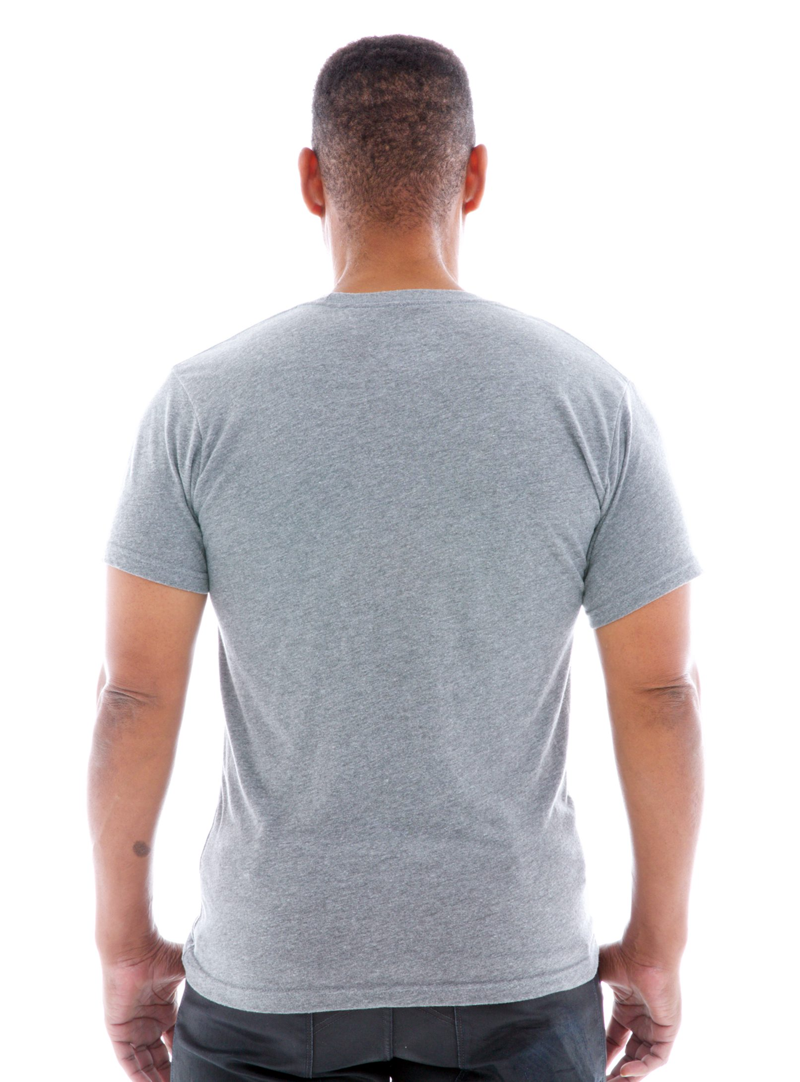 Triblend Jersey Crew Short Sleeve T-Shirt Back View