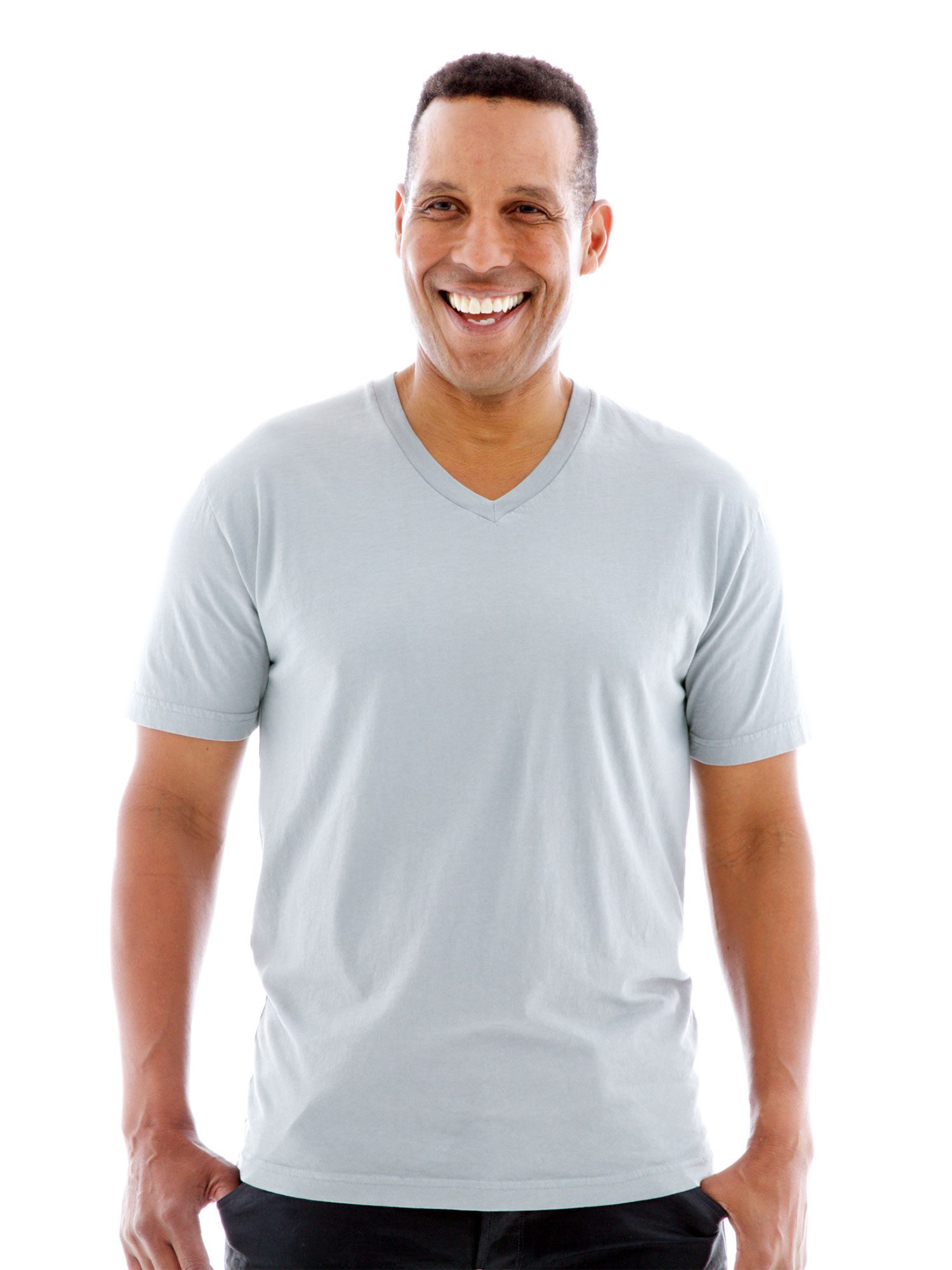 Fine Jersey V-neck Custom Printed T-Shirt