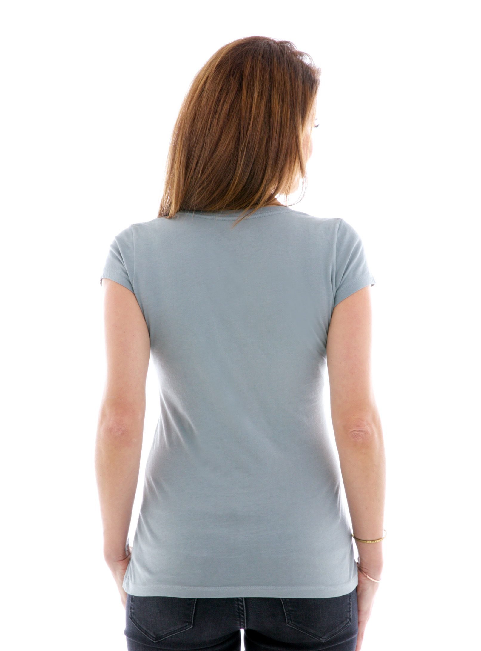 Fine Jersey Scoop Short Sleeve T-Shirt Back View