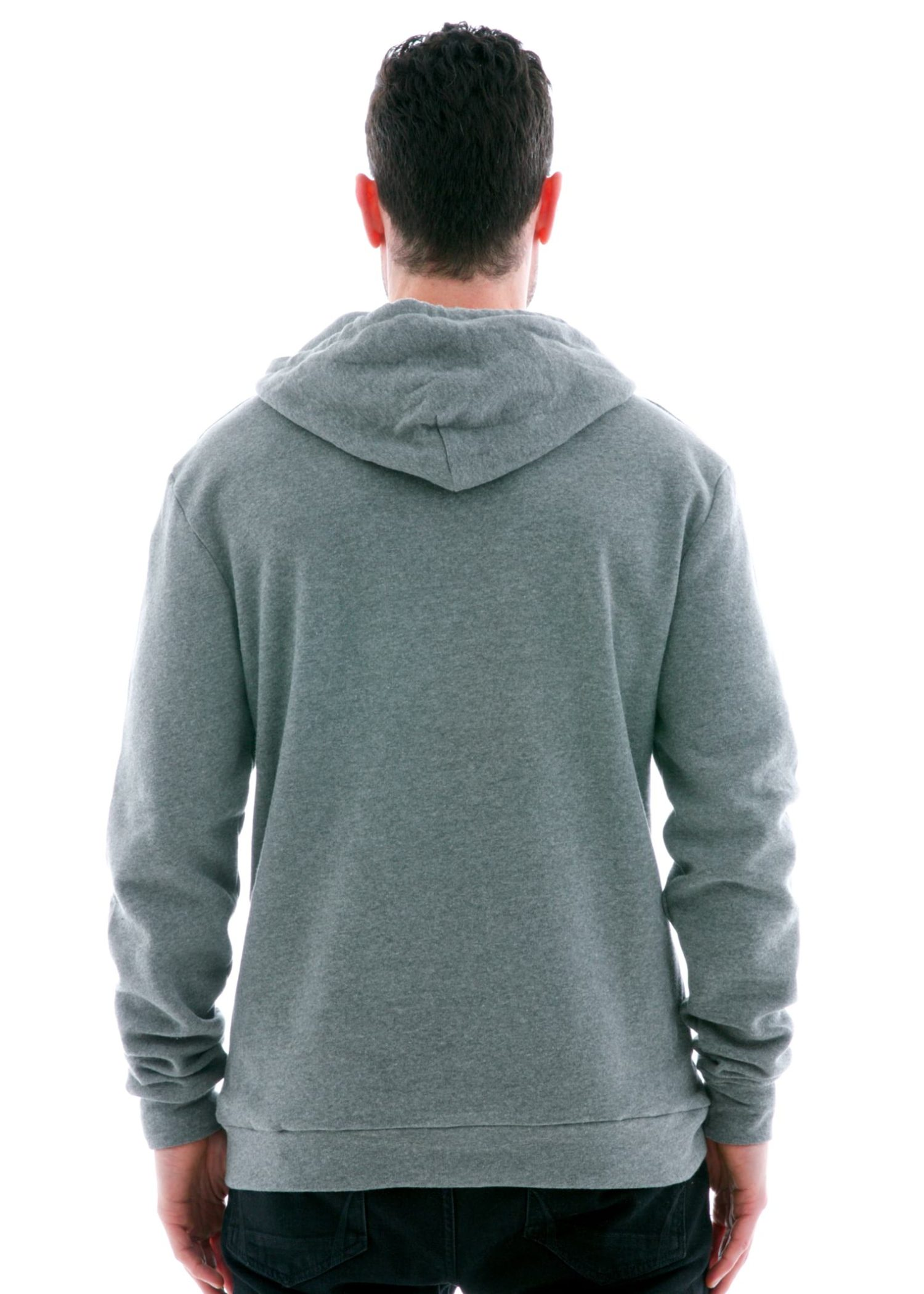 Plush Pullover Hoodie Back View