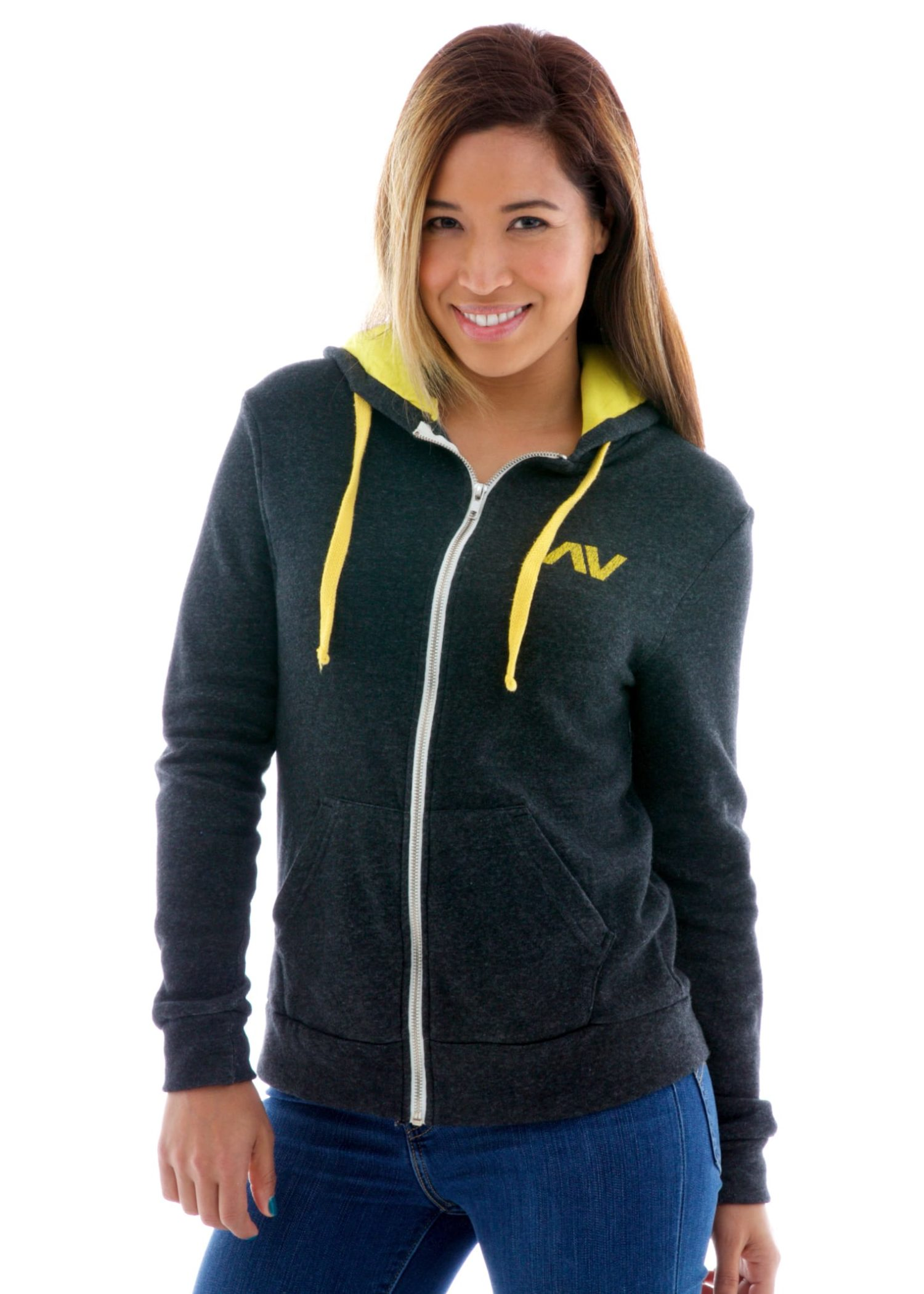 Vintage Fleece Zip Custom-lined Hoodie