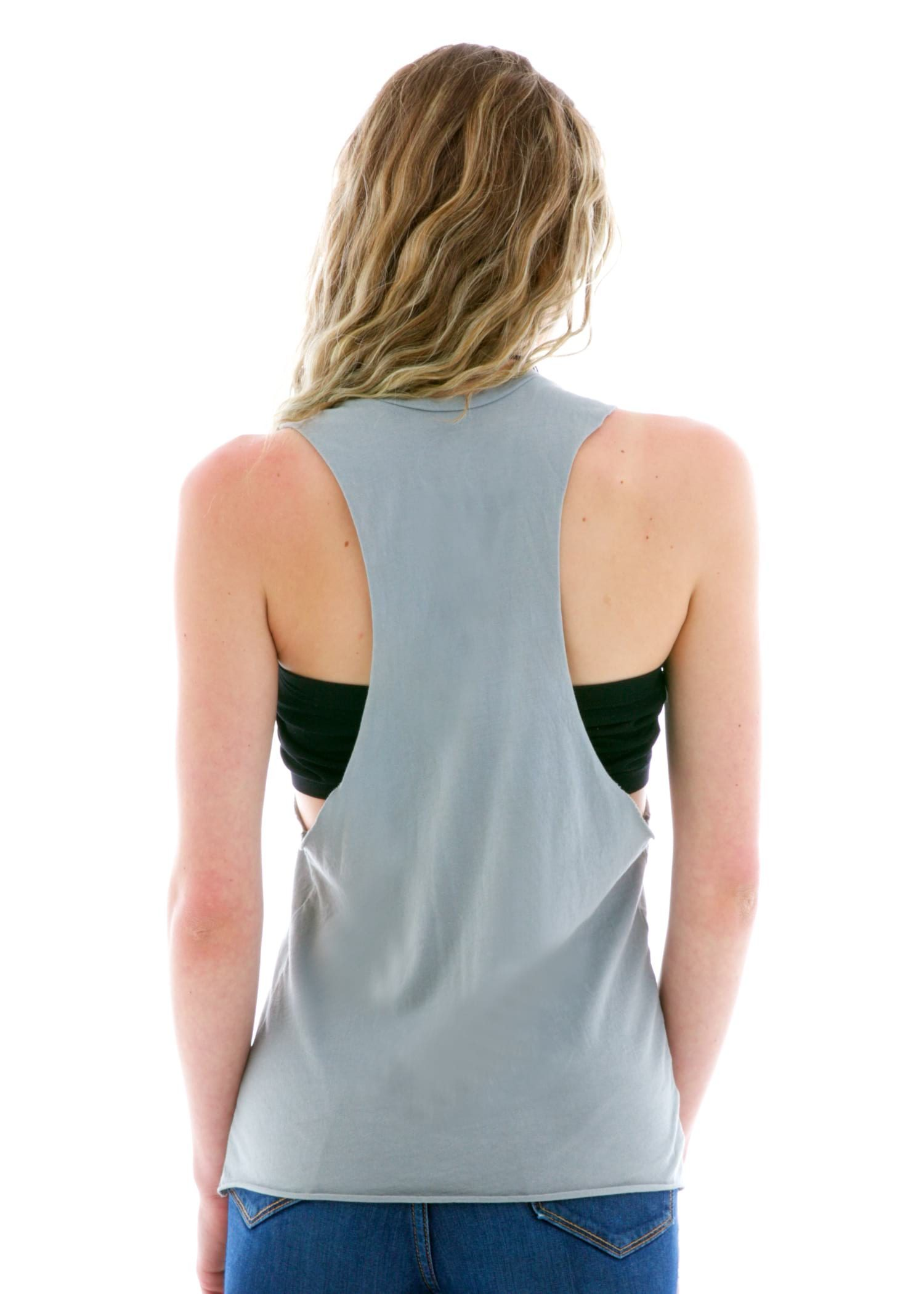 Cutout Tank Top Back View