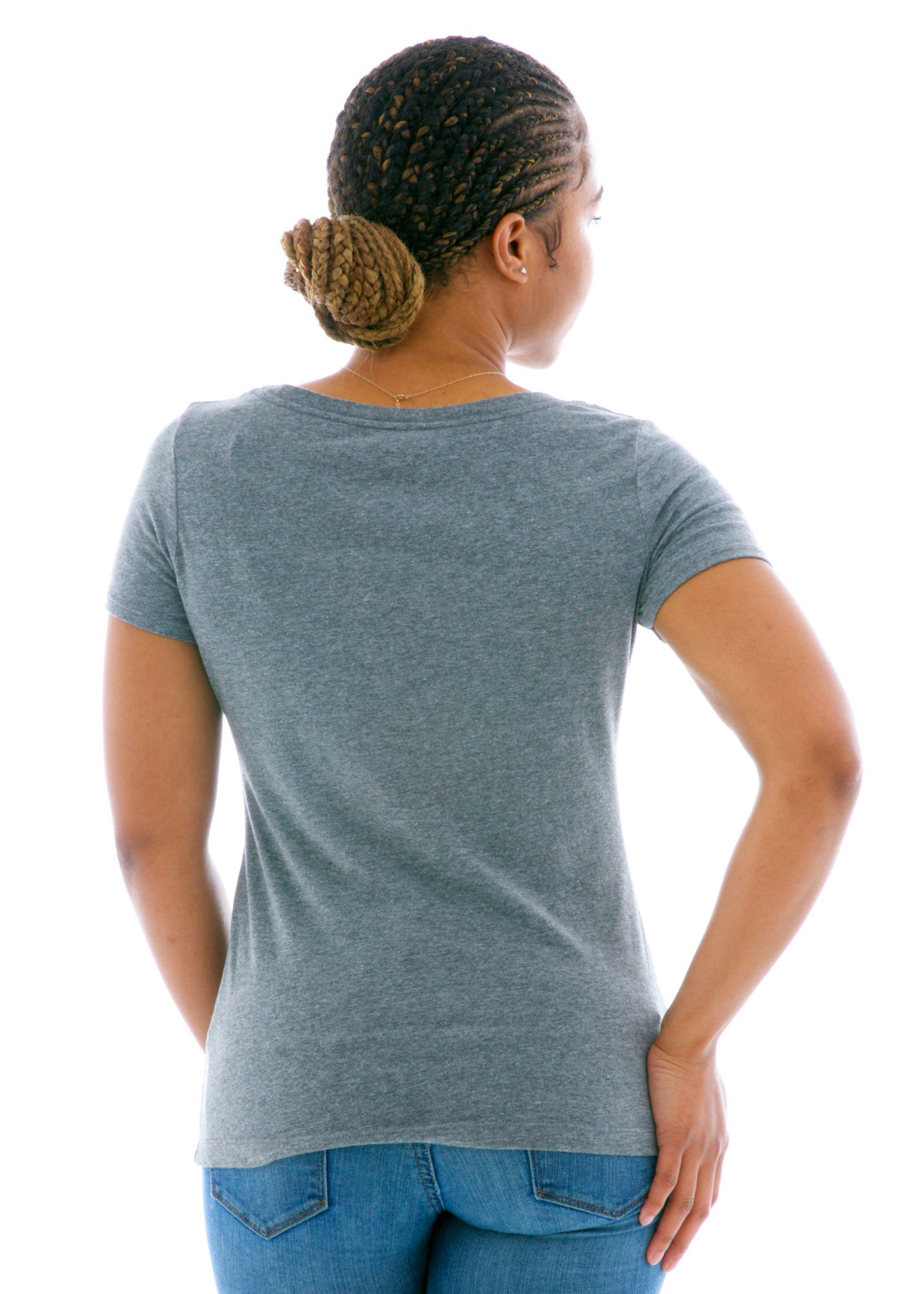 Luscious Triblend Scoop Short Sleeve T-Shirt Back View