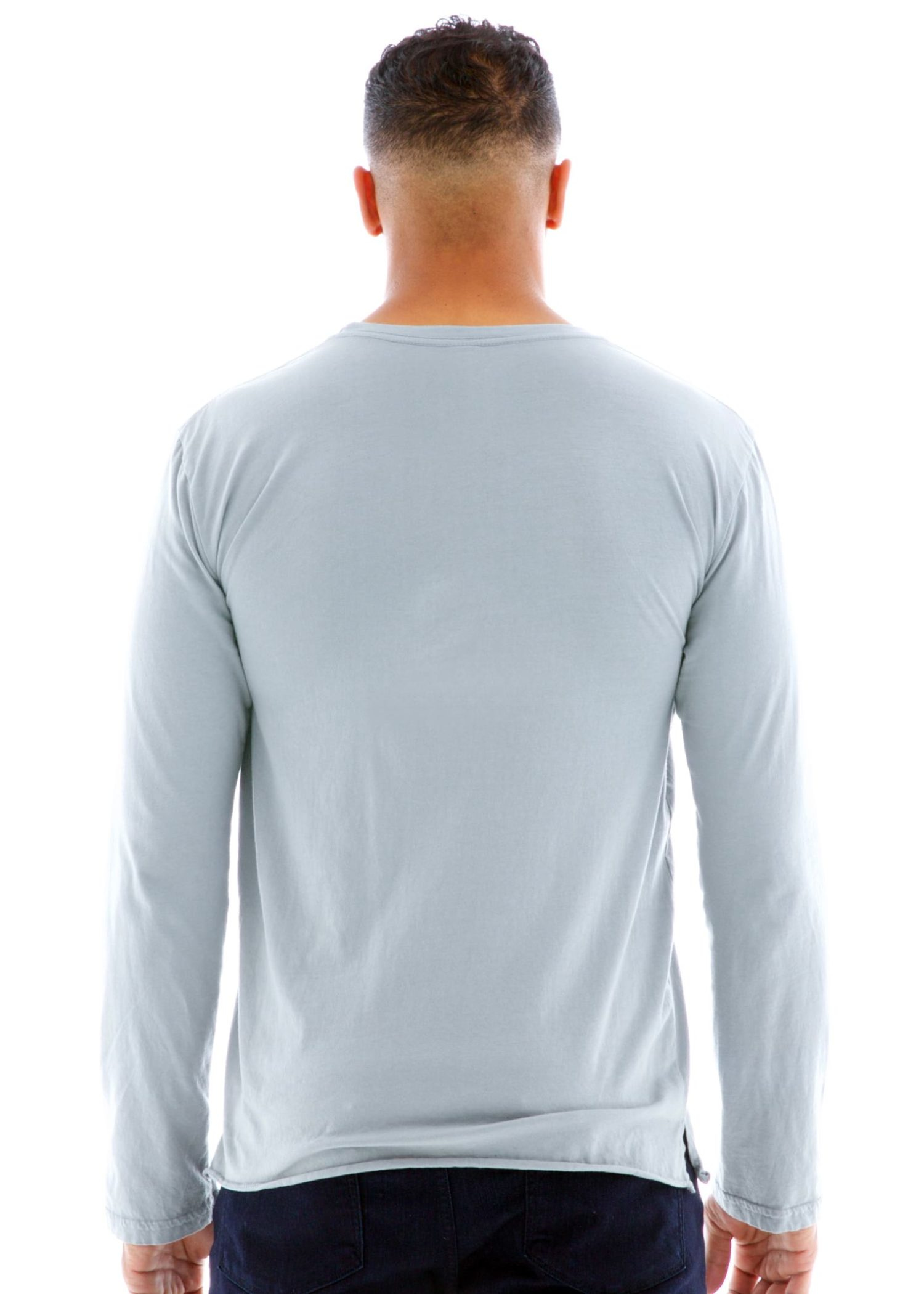 Men's Long Sleeve Jersey Crew T-Shirt