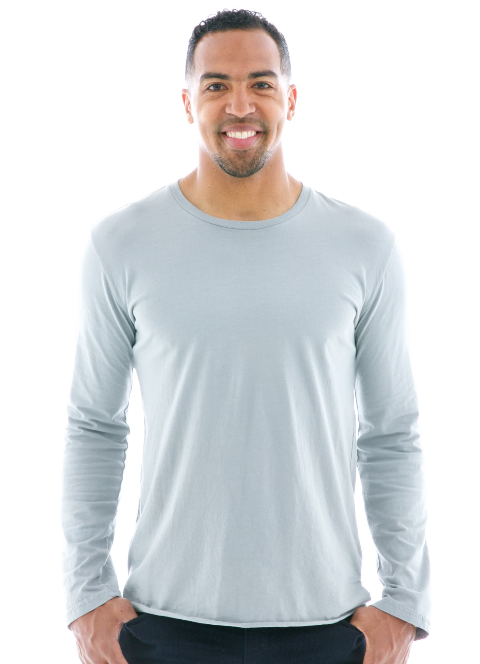 Long Sleeve Jersey Crew T-Shirt Front View