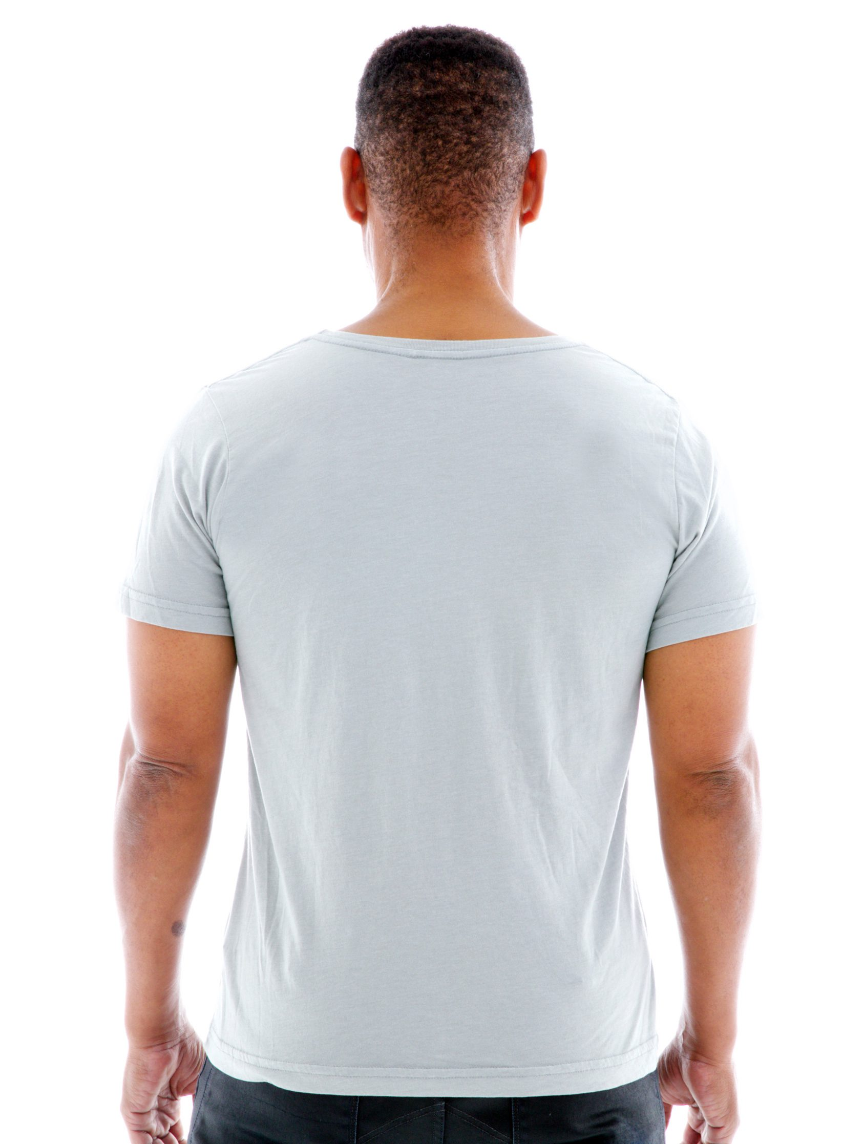 Superfine Jersey Fashion Crew Short Sleeve T-Shirt Back View
