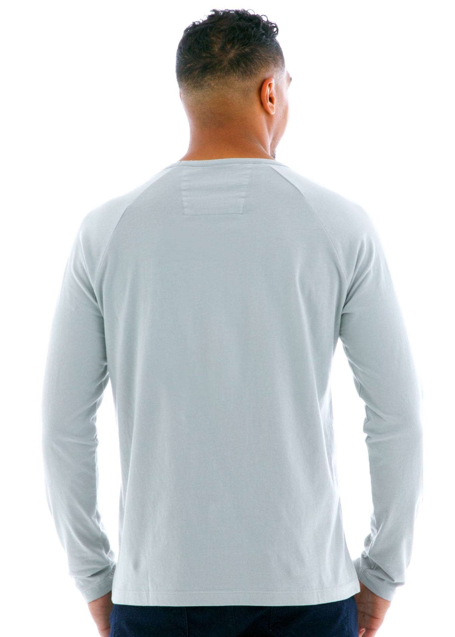 Long Sleeve Raglan Crew T-Shirt Back View