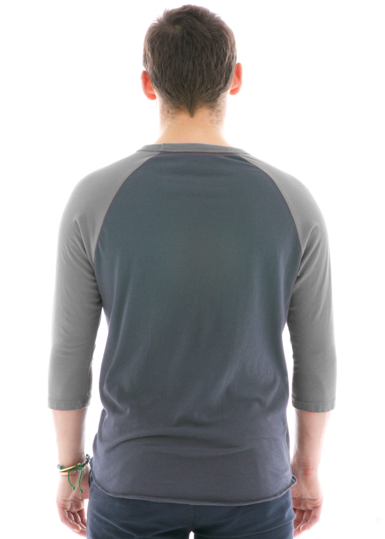 Vintage Baseball Raglan Crew T-Shirt Back View