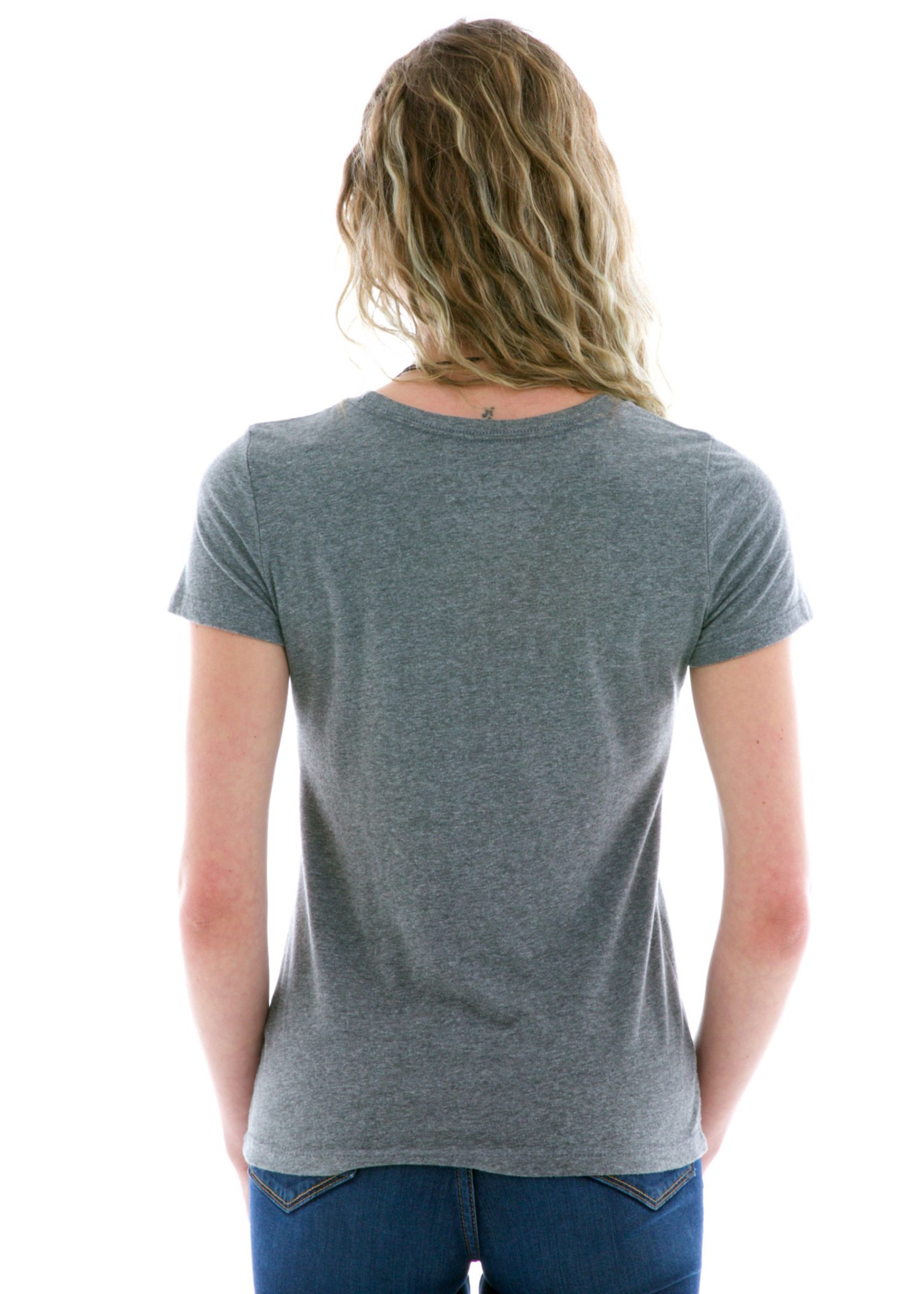 Luscious Triblend Crew Short Sleeve T-Shirt Back View