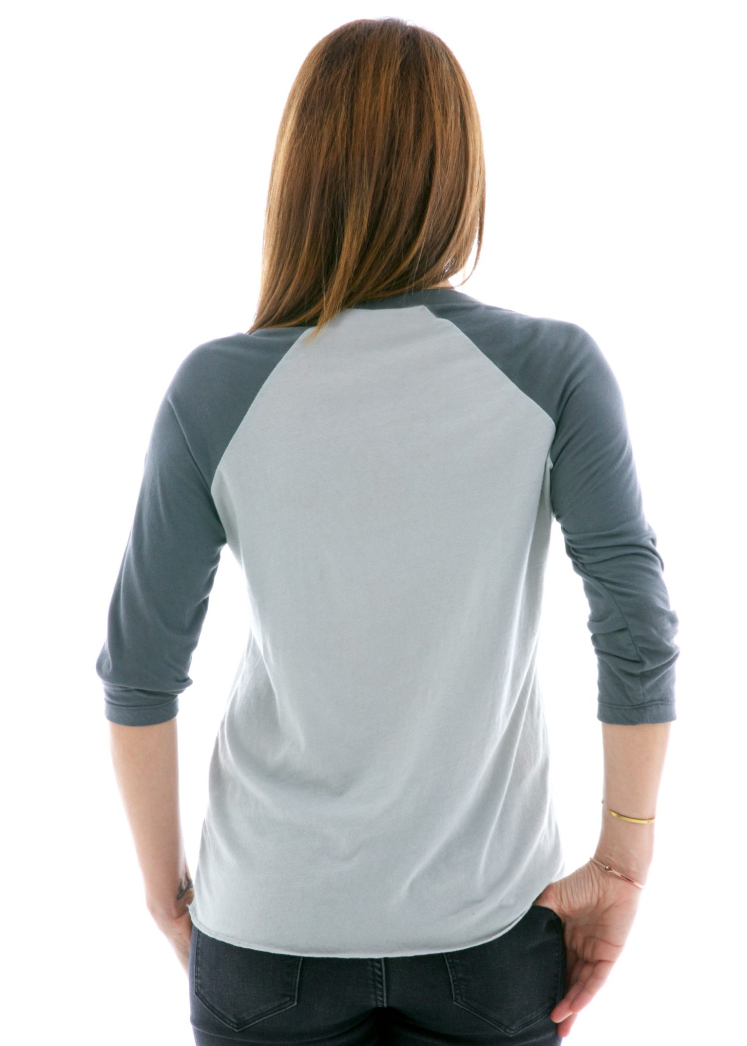 Long Sleeve Raglan Jersey Back View
