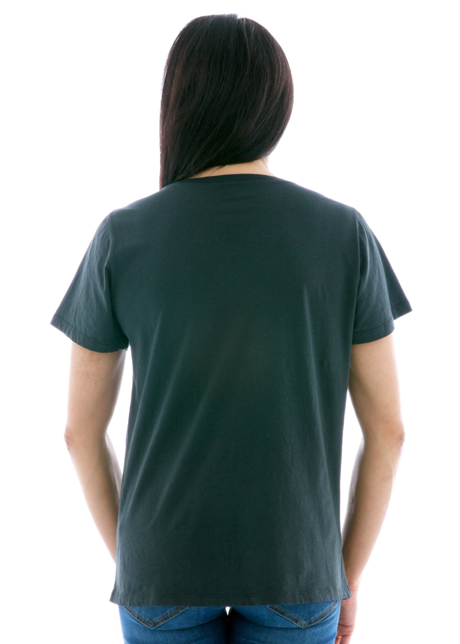 Relaxed Jersey Scoop Short Sleeve T-Shirt Back View