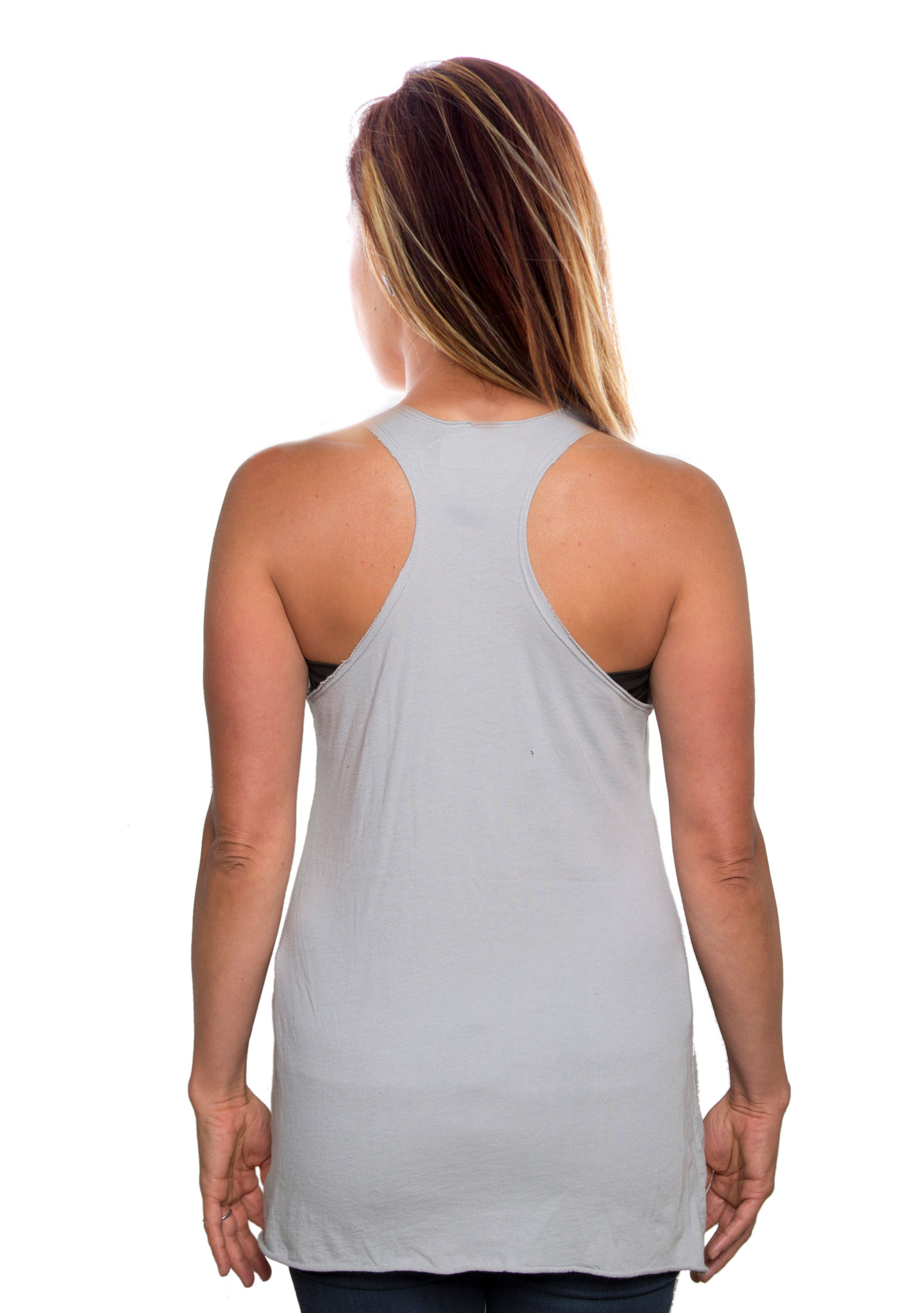 Raw Edge Tank Top Back View