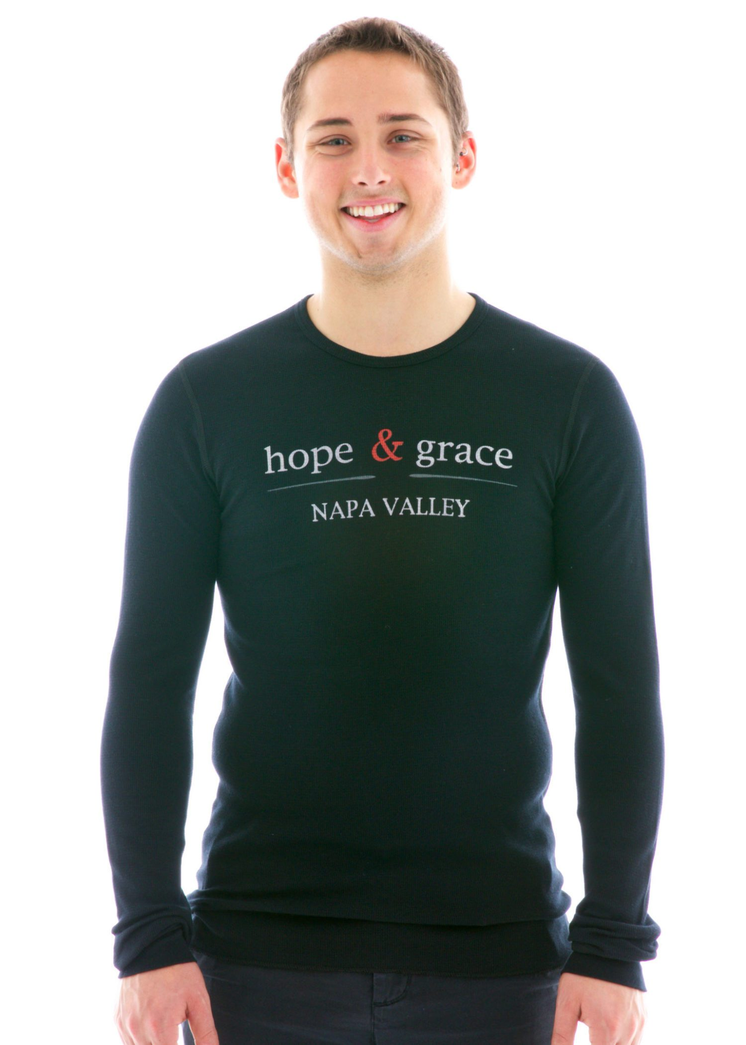 Vintage Long Sleeve Thermal T-Shirt with Logo