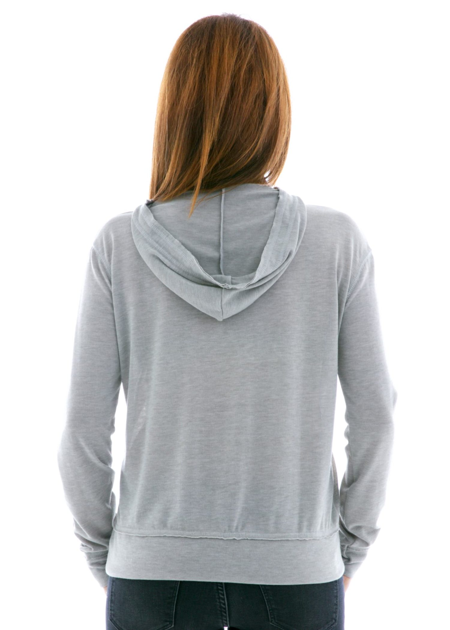 Hacci Pullover Hoodie Back View
