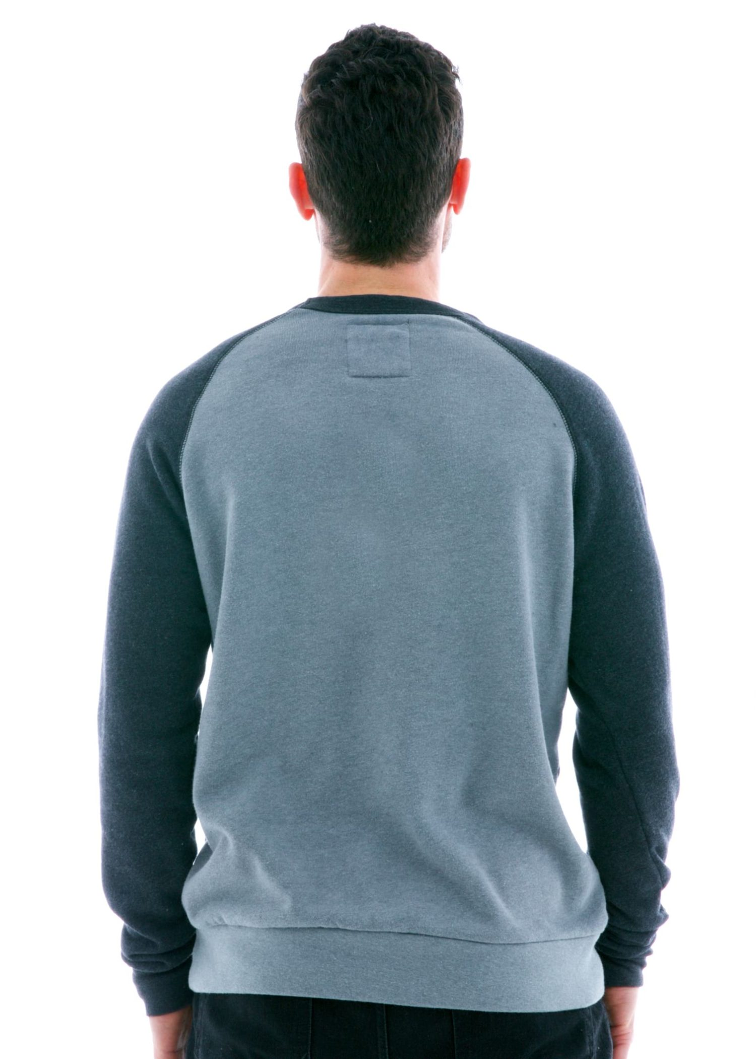 Men's Contrast Sleeve Old School Long Sleeve Raglan T-Shirt Back View