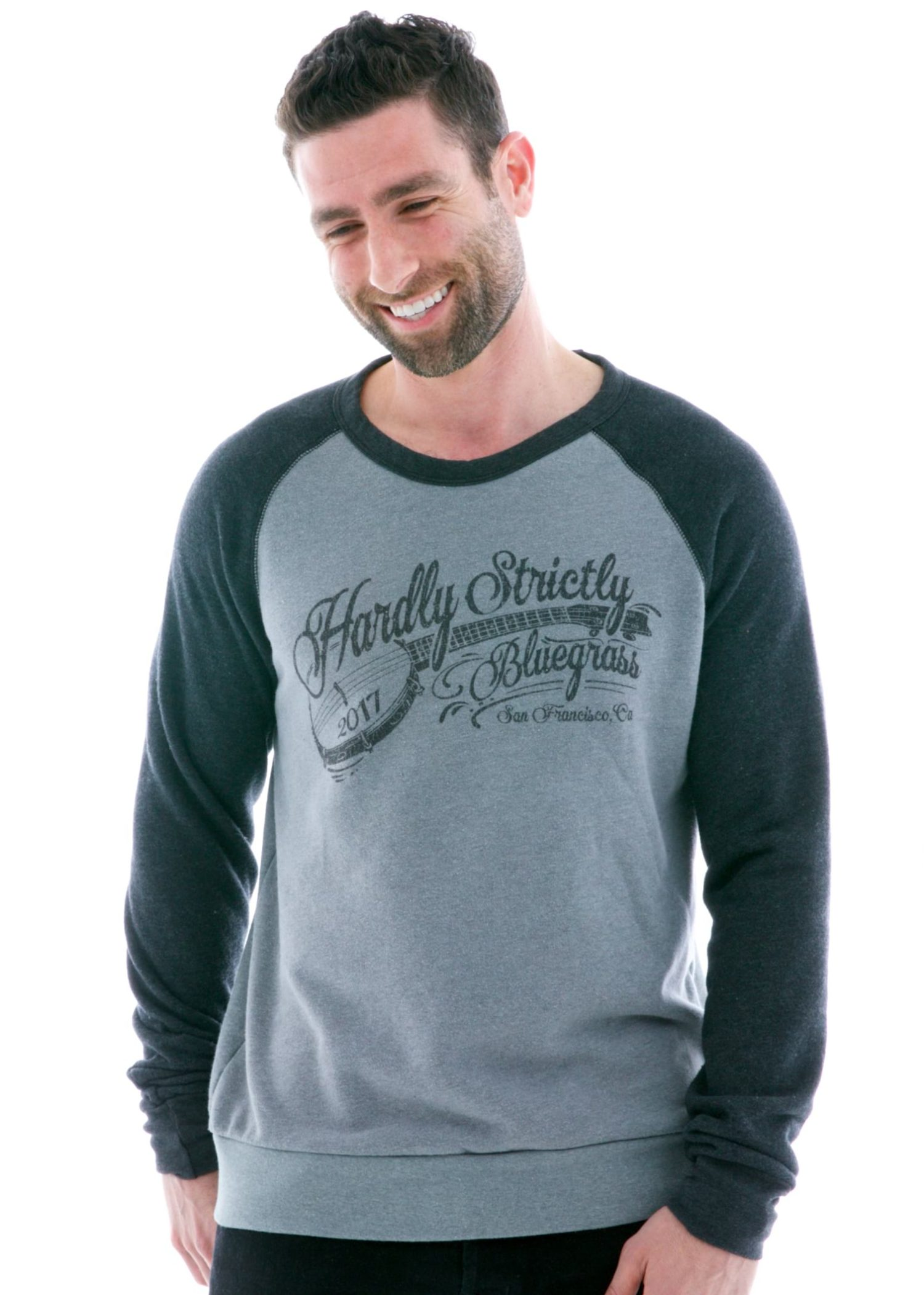 Contrast Sleeve Old School Long Sleeve Raglan T-Shirt with Logo