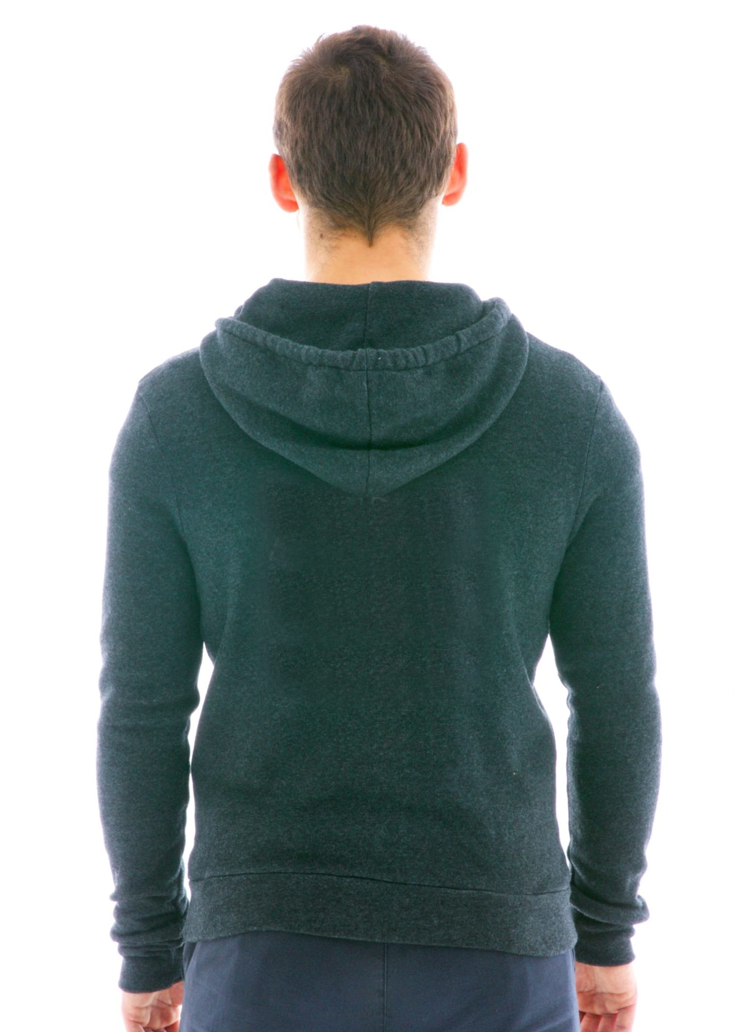 Vintage Polycotton Fleece Zip Hoodie Back View