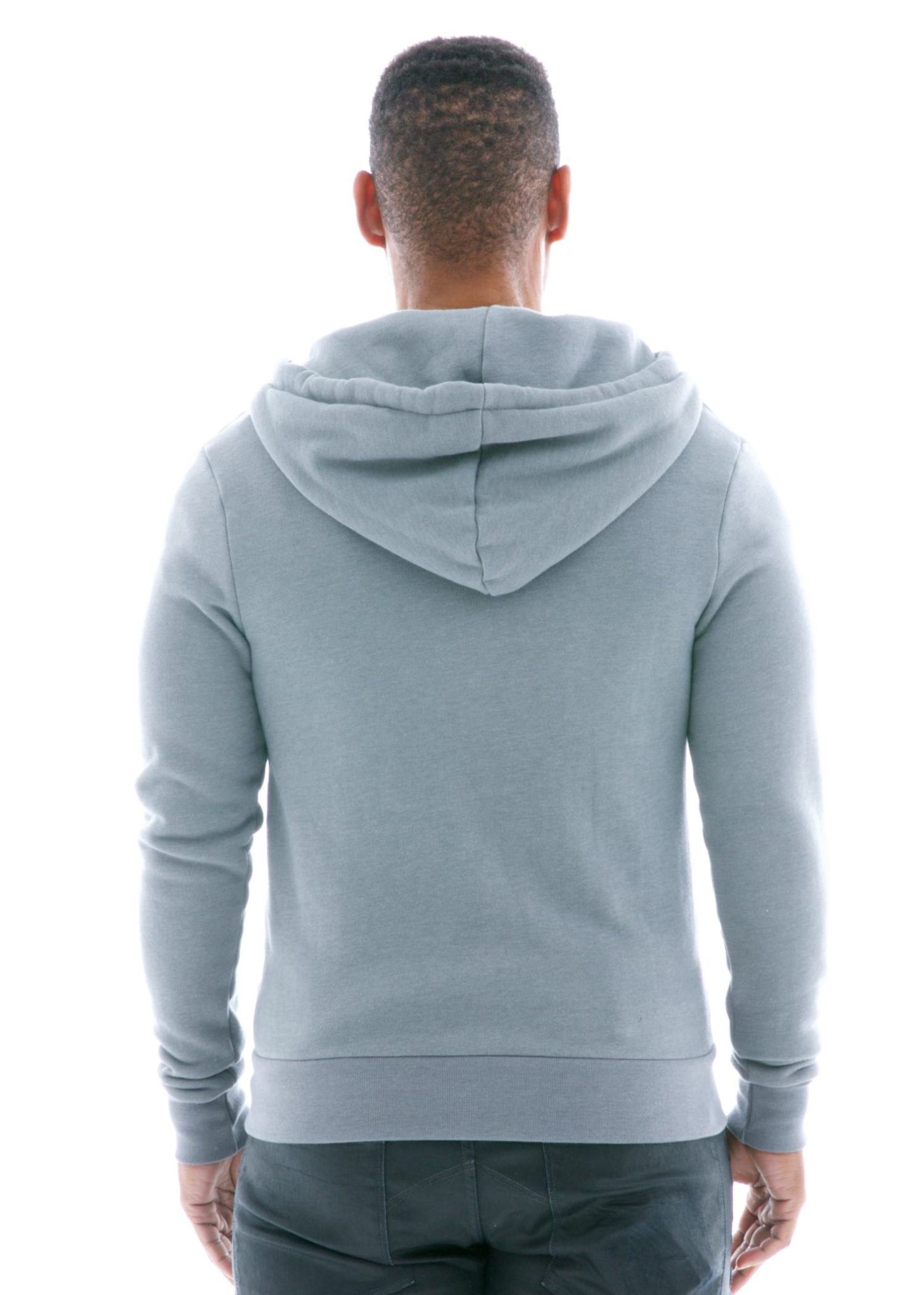 Luxe Heavyweight Zip Hoodie Back View