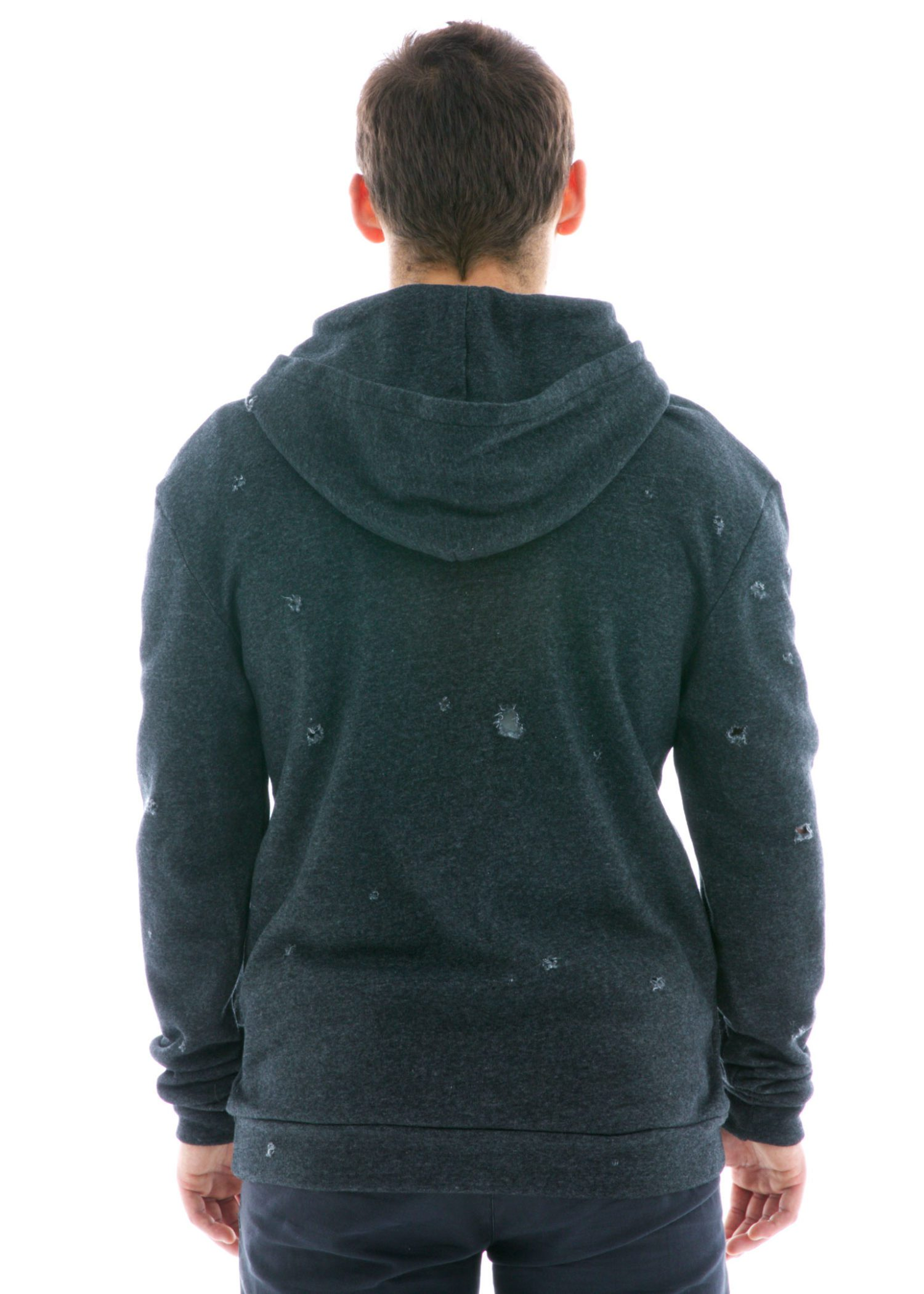 Destroyed Pullover Hoodie Back View