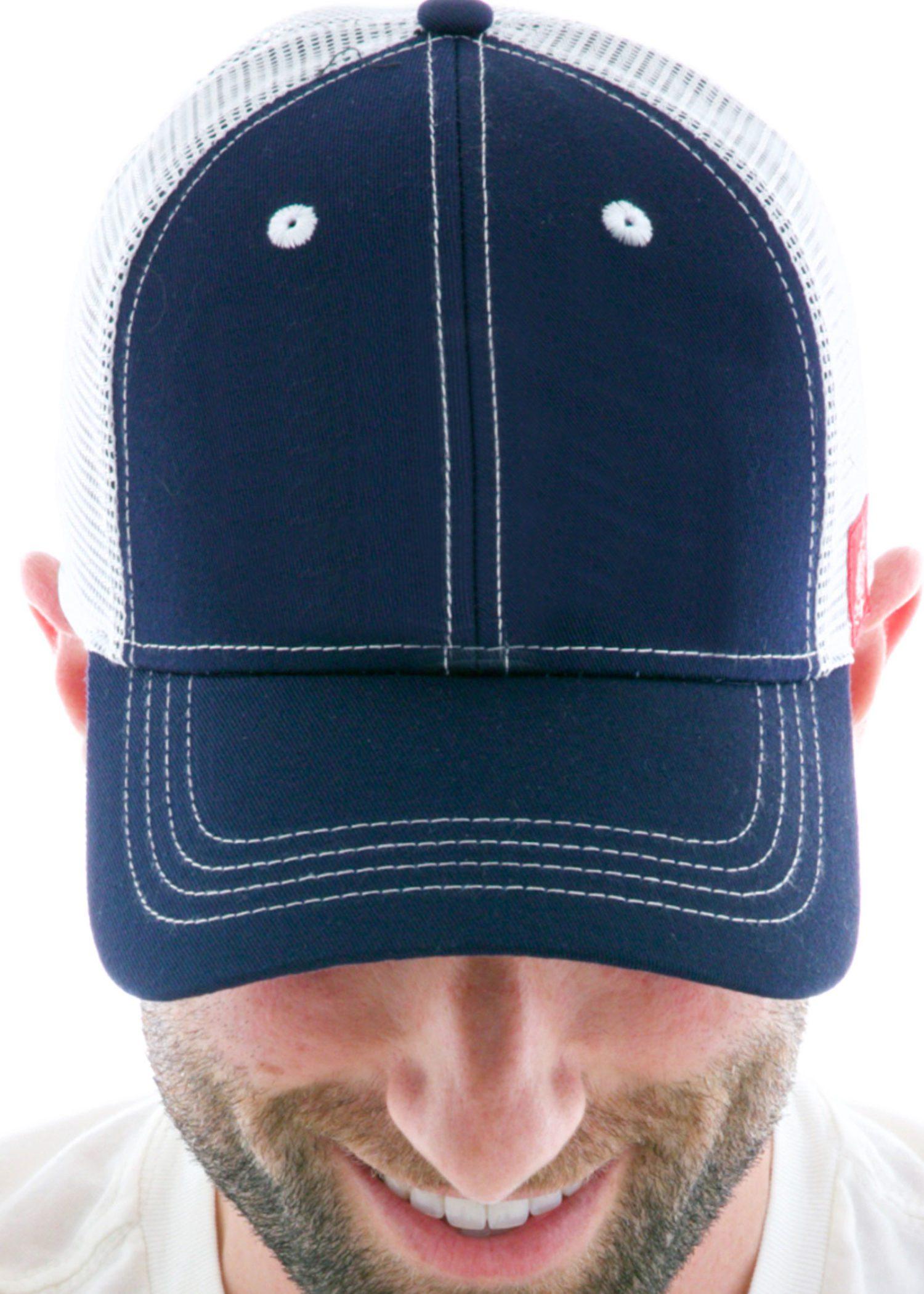 Custom Contrast Vintage Trucker Hats for Men and Women
