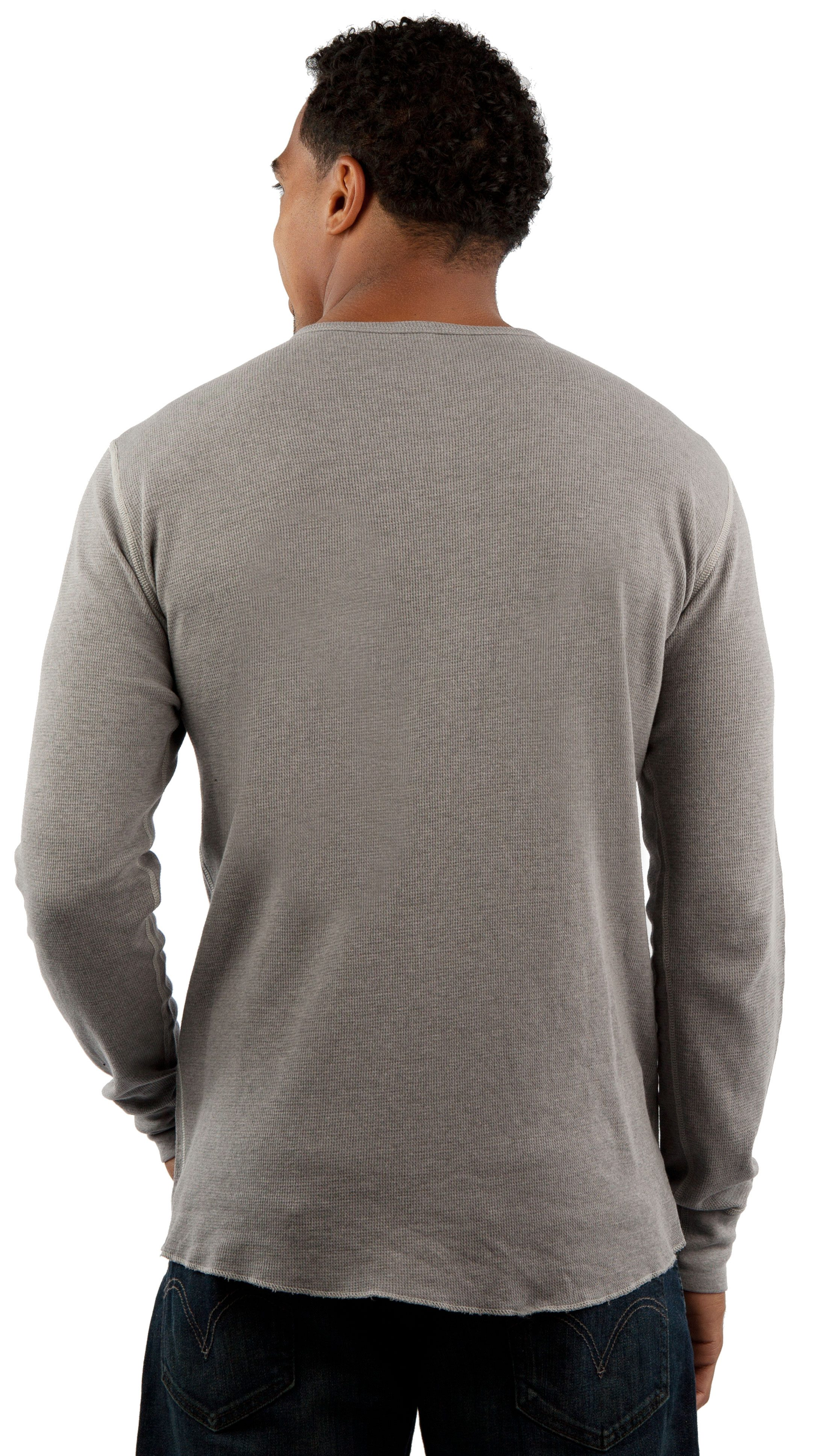 Vintage Long Sleeve Thermal T-Shirt Back View