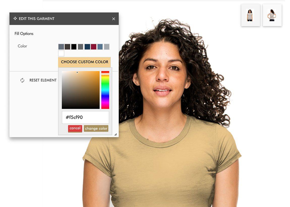 Select Garment Color
