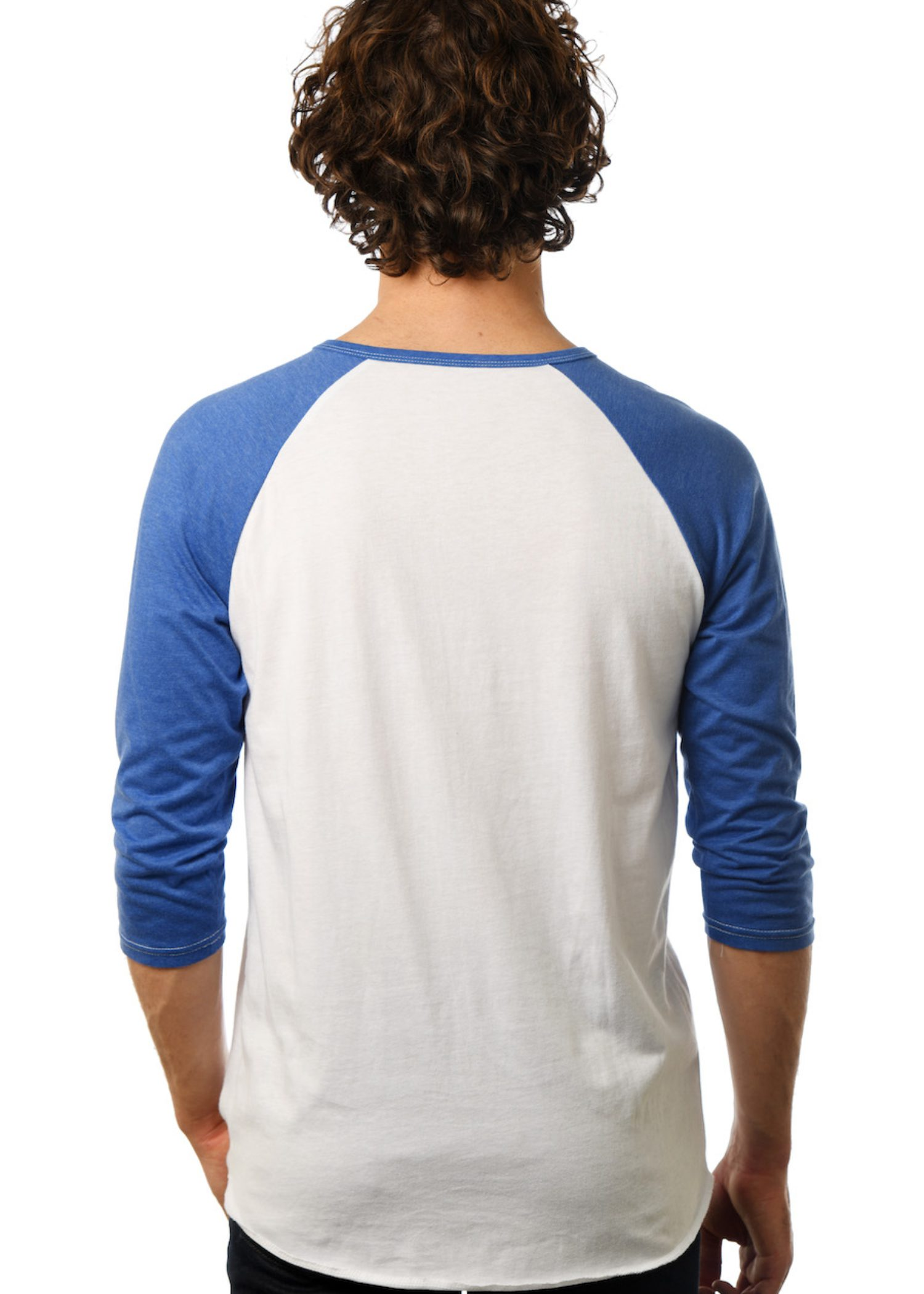 GG 109-Mens 3-Button Baseball Henley back