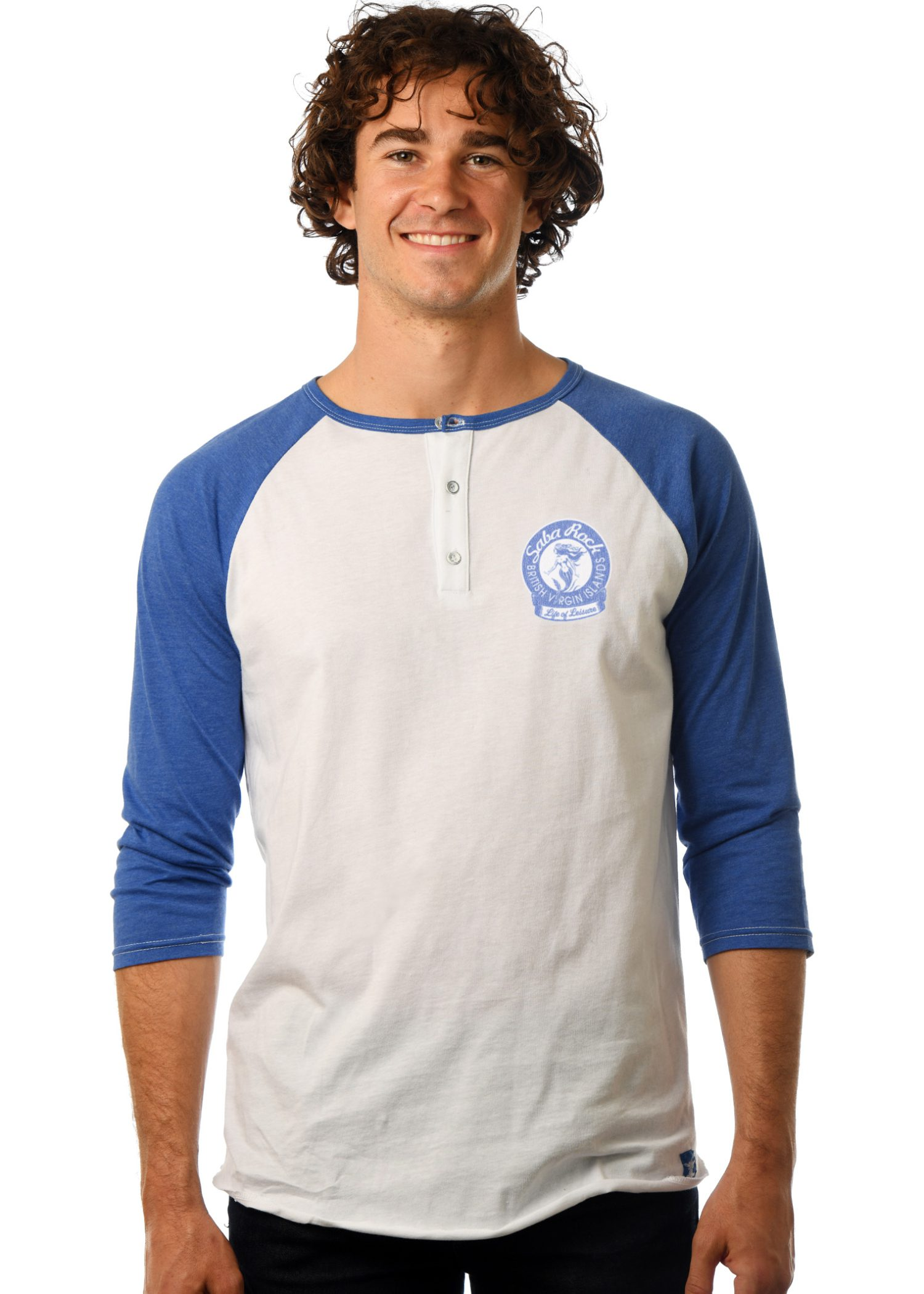 GG 109-Mens 3-Button Henley Front- Saba REV