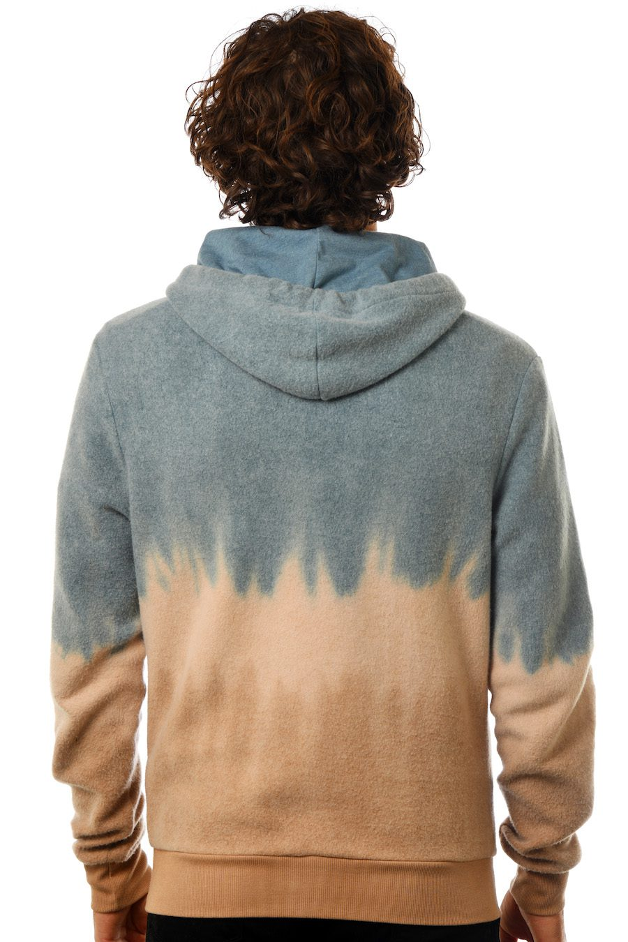 GG 799-F-TD Unisex Furry Tiedye Fleece -back