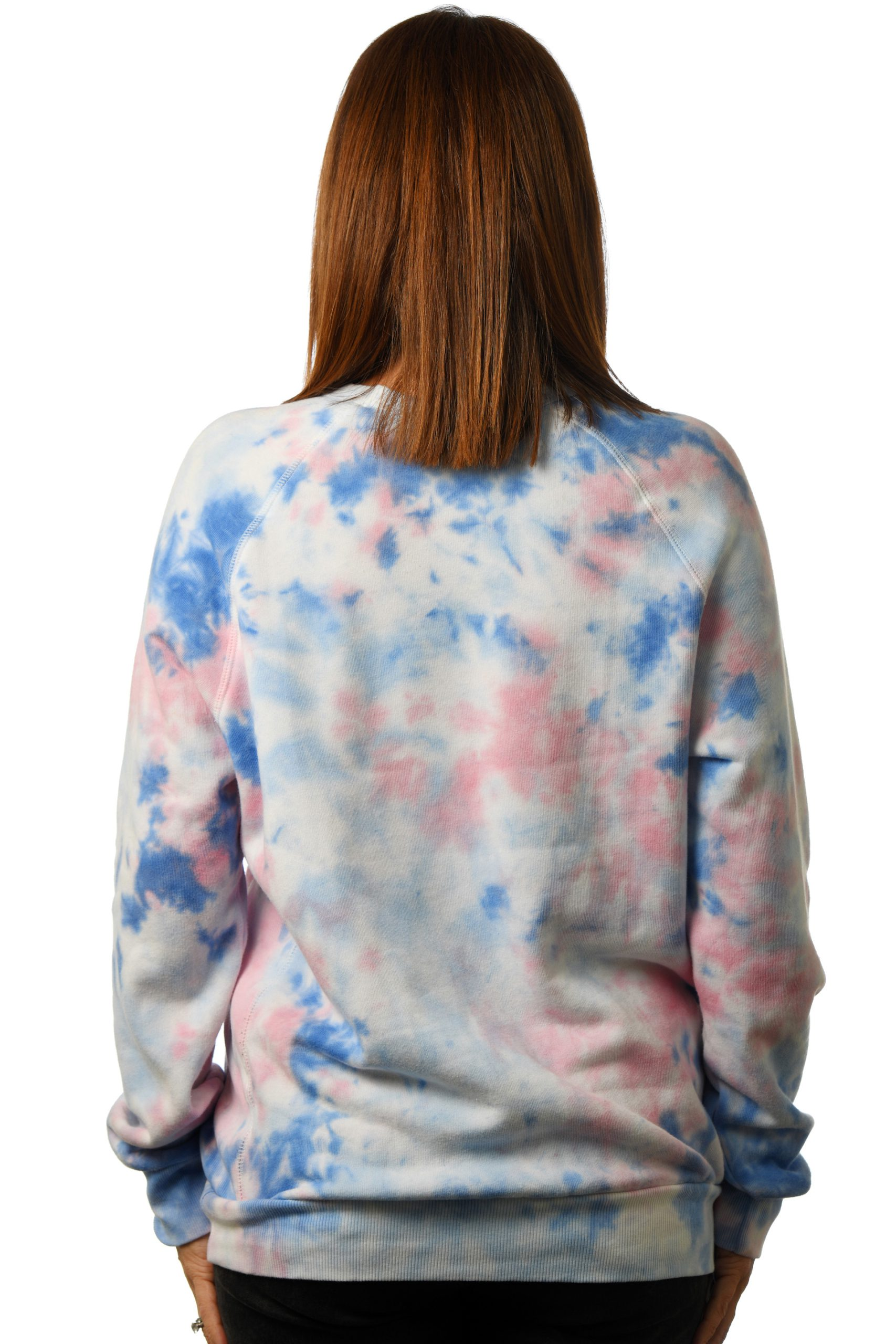 GG 798-G-TD Unisex Tiedye Old School Fleece Raglan back