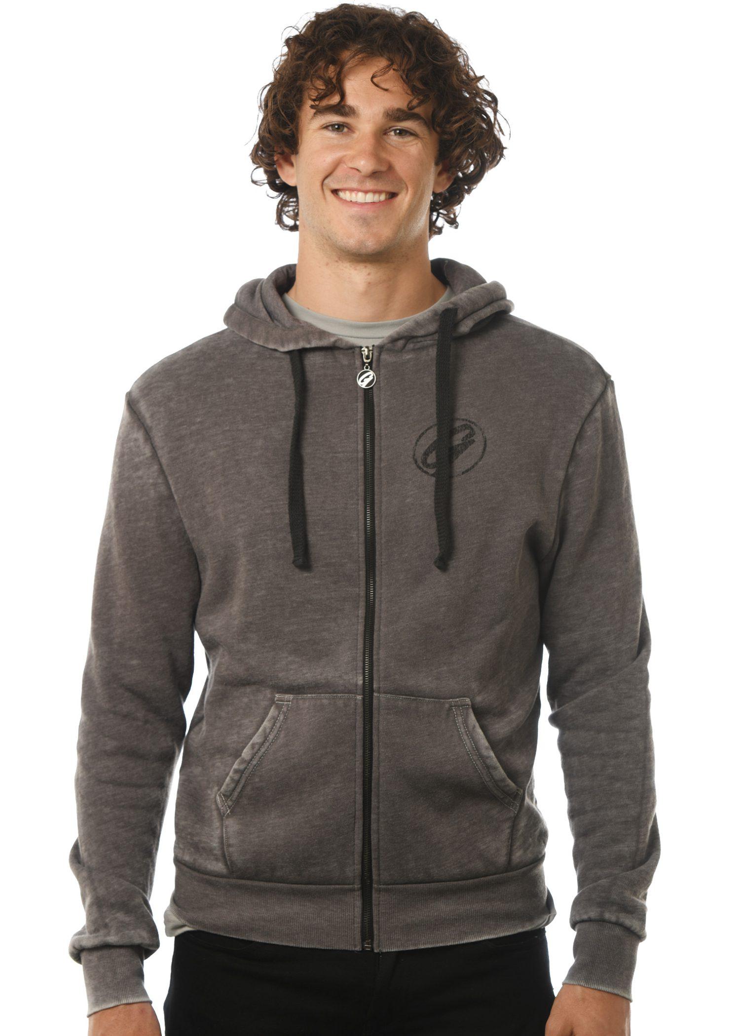 GG 799-B Burnout Men's Zip Hoodie front 1