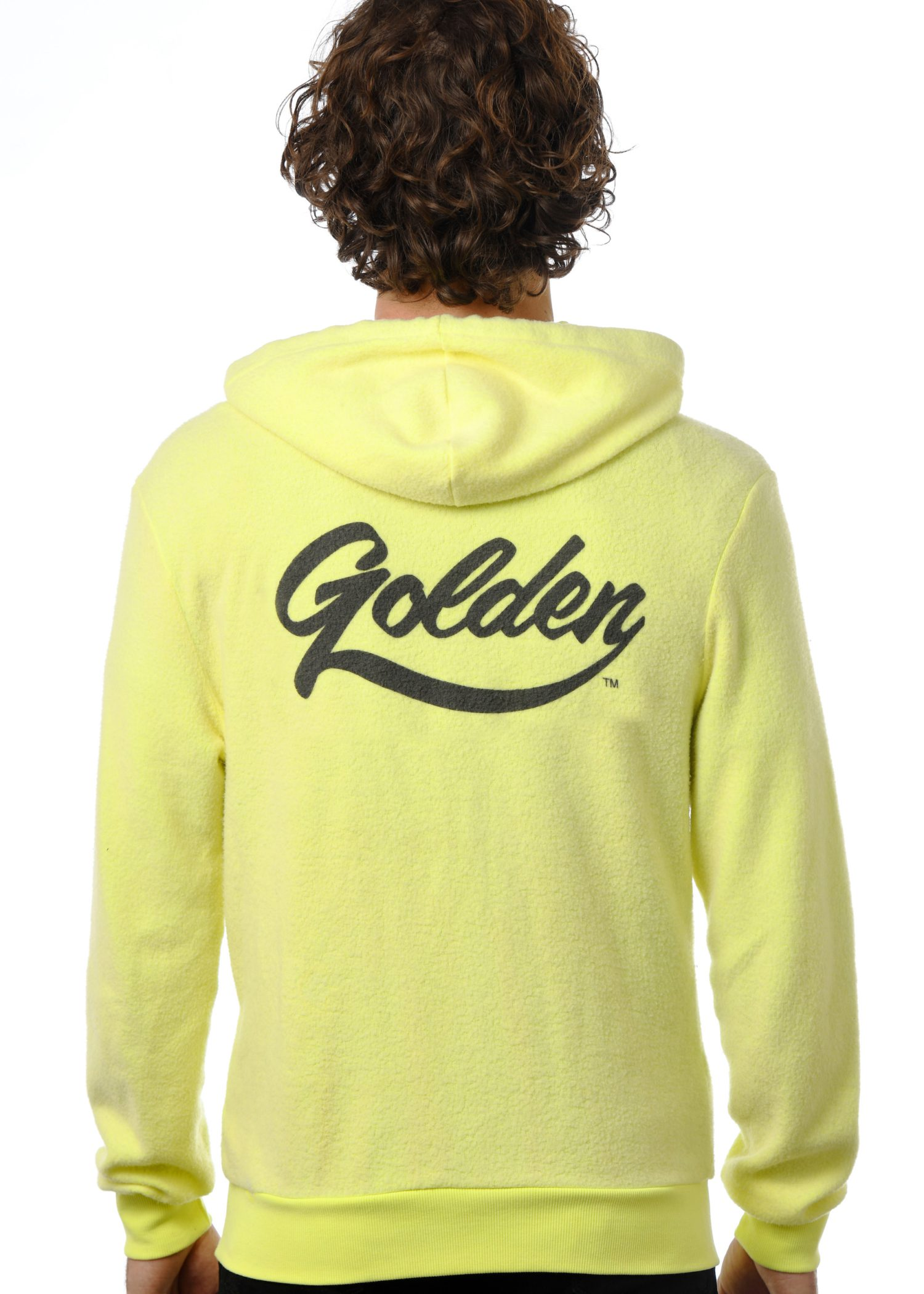 GG 799-F-Unisex Furry Fleece Zip Hoodie Back