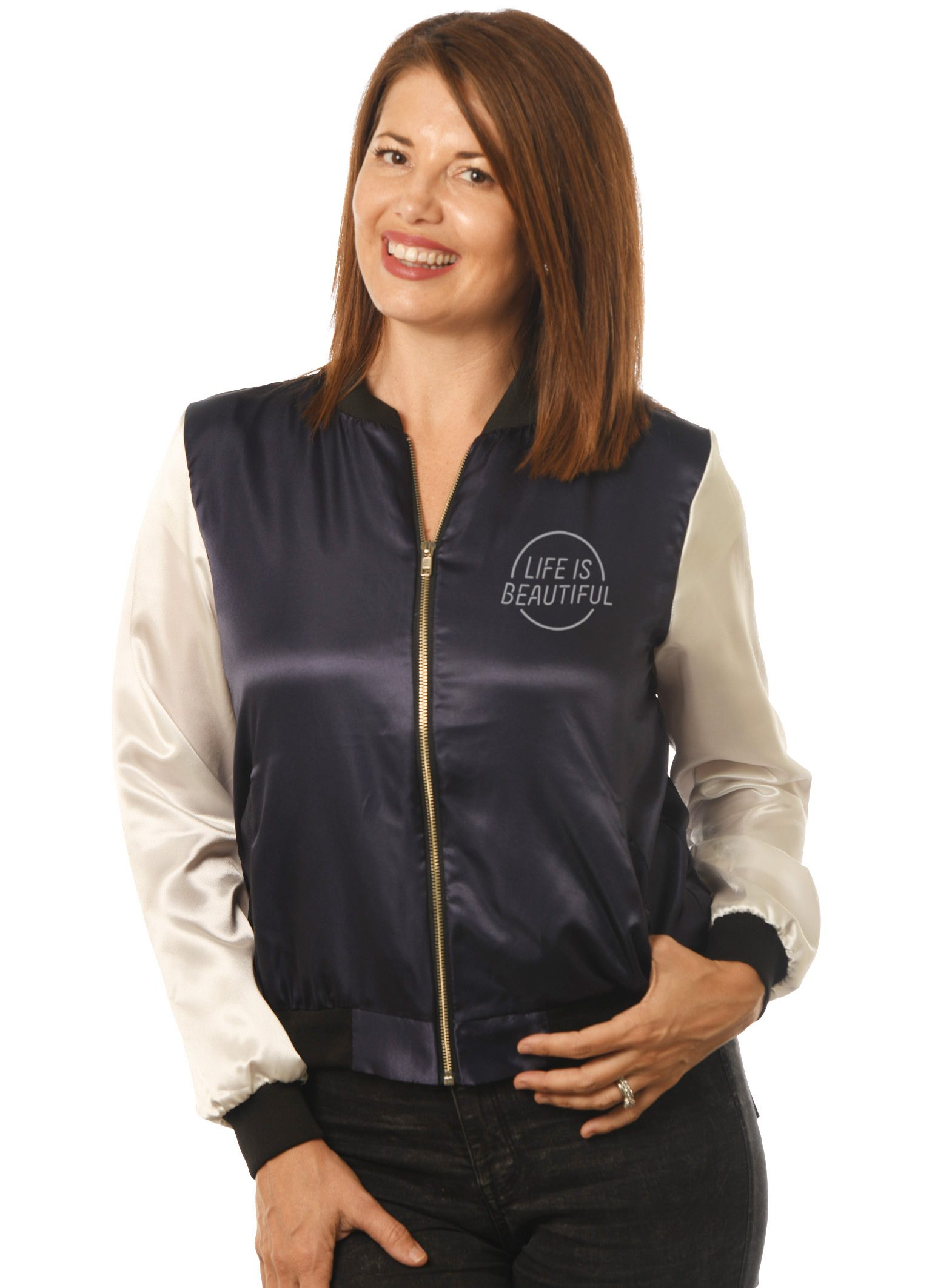 GG-905 Women's Satin Baseball -Front LIB