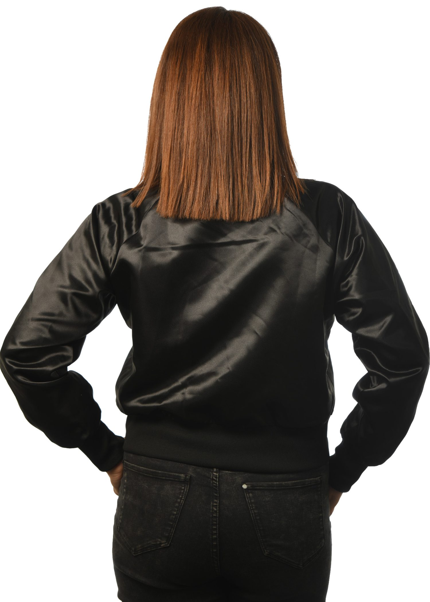 GG-905 Women's Satin Bomber back