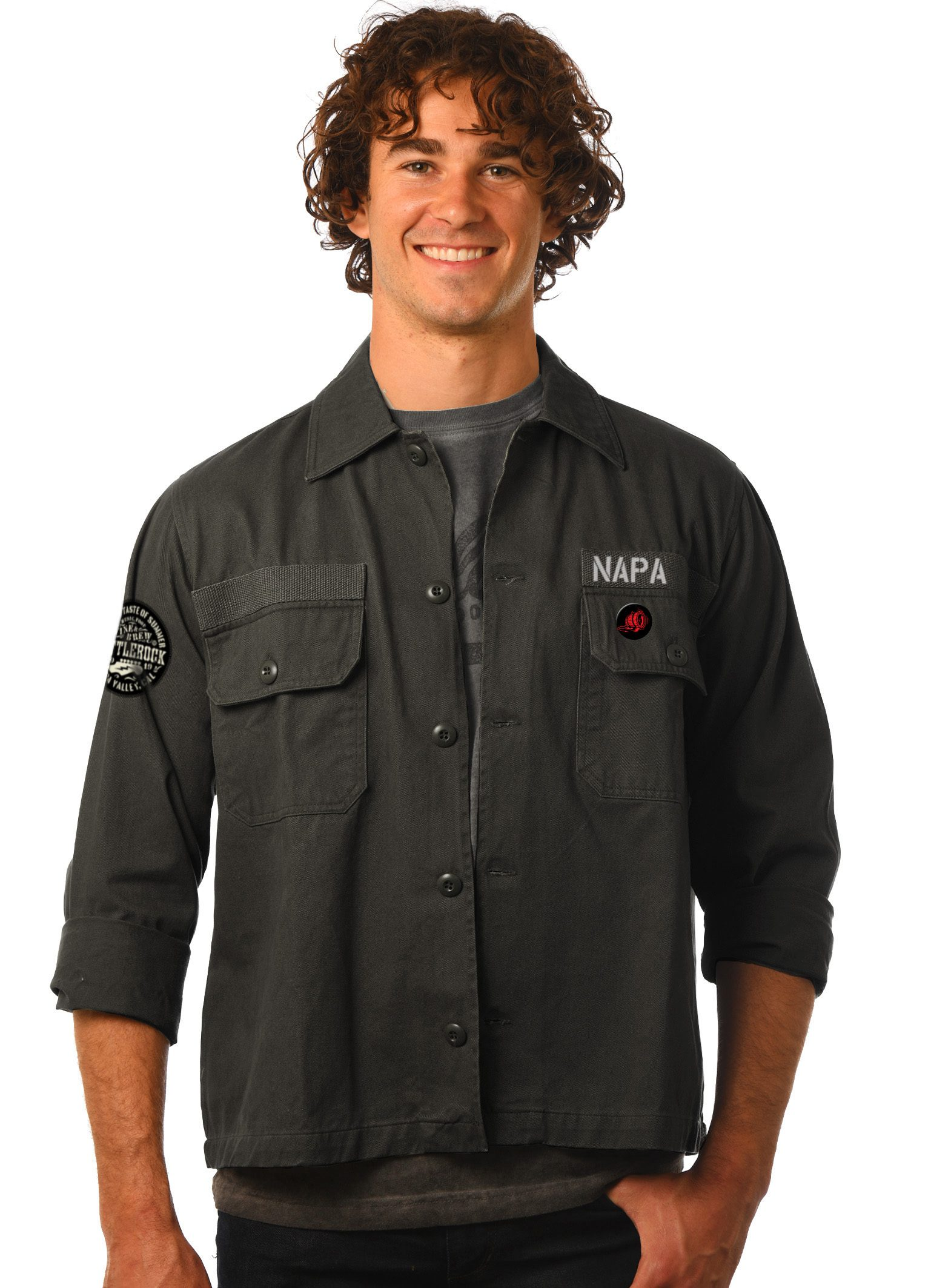GG 910 Military Jacket-Front-2BR copy