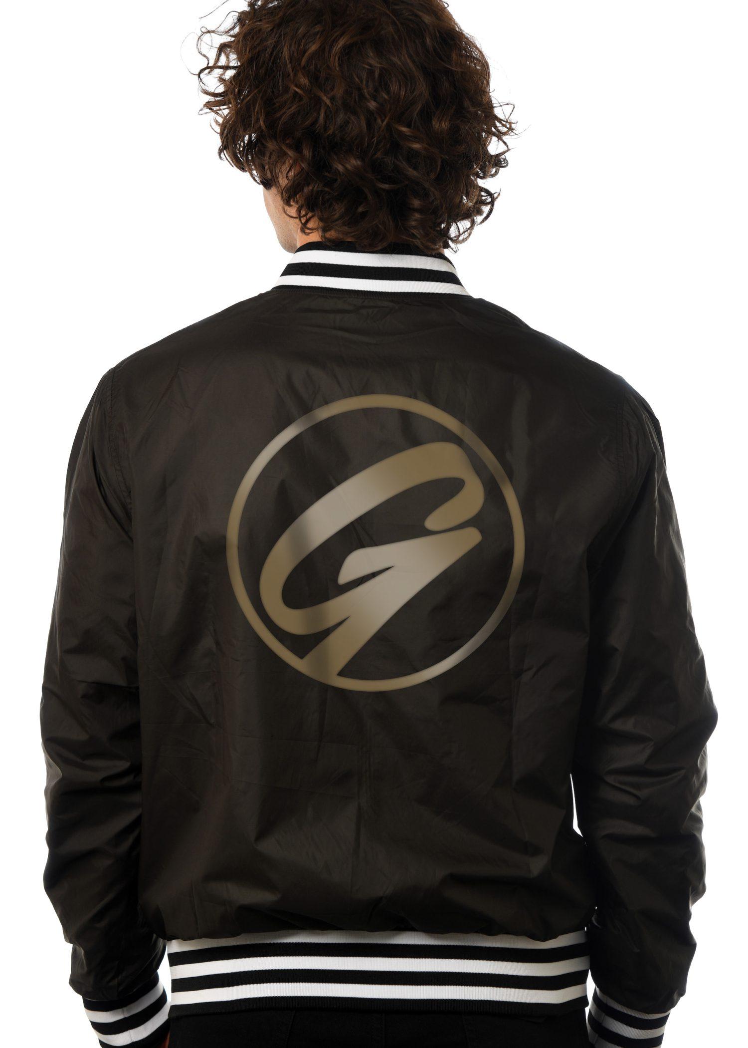 GG 912 Unisex Baseball Jacket- back GG