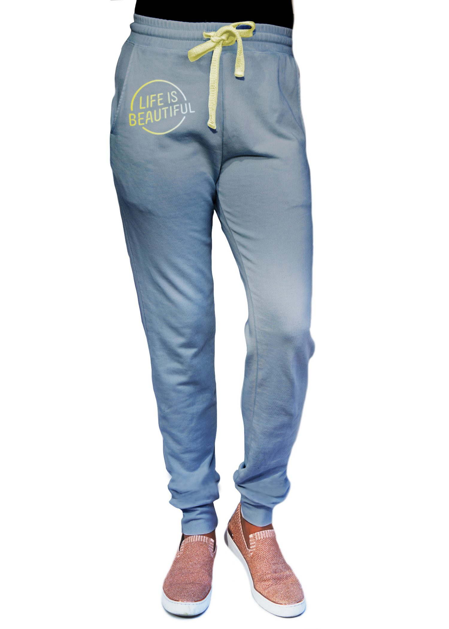 GG 311-FT unisex jogger-front lt blue LIB