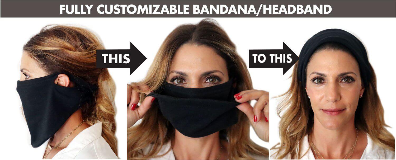 fully customizable bandana/headband